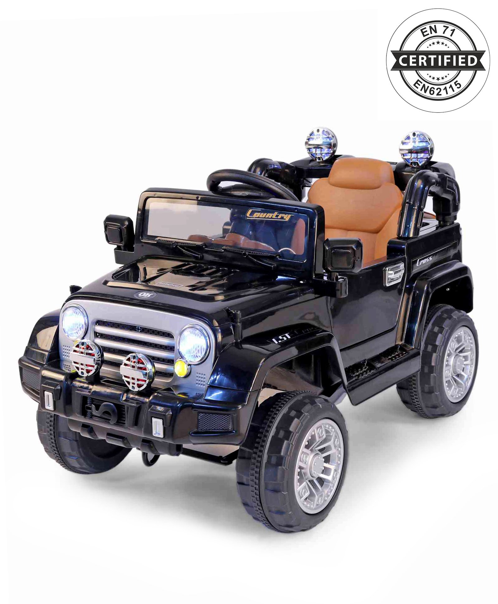 Babyhug Battery Operated Ride On Jeep With Parental Remote Control Black Online In India Buy At Best Price From Firstcry Com 1893389
