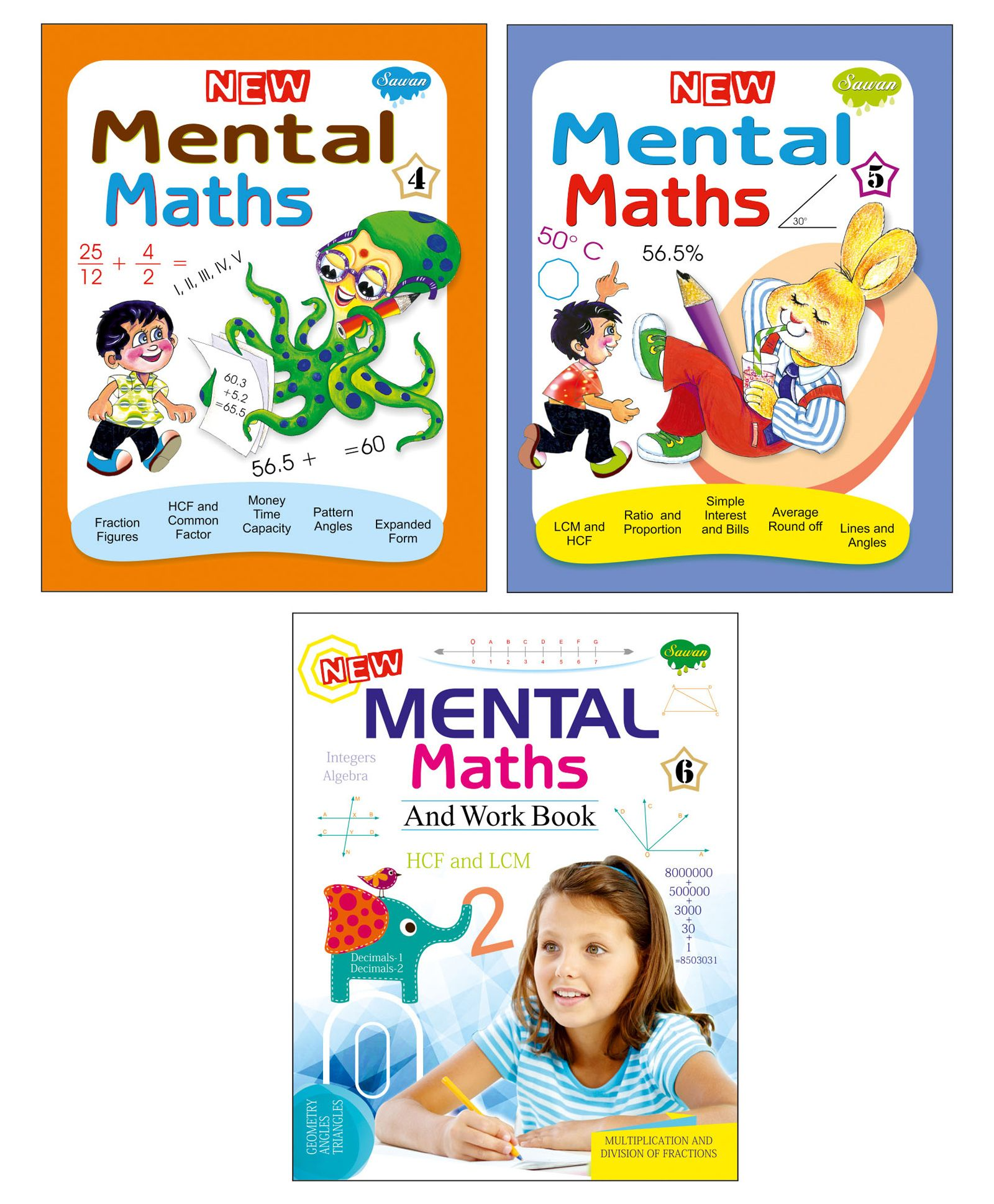 Sawan Mental Maths Books Level 4 5 6 Set of 3 English Online in India, Buy  at Best Price from Firstcry com - 1904067