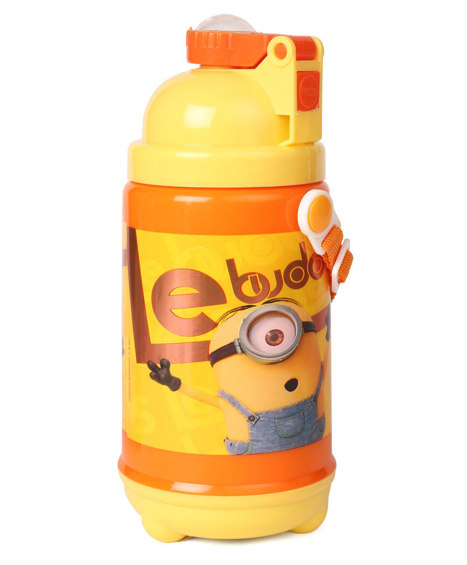6238e18c3c Minions Le Buddies Water Bottle With Pop Up Straw Yellow 480 ml ...