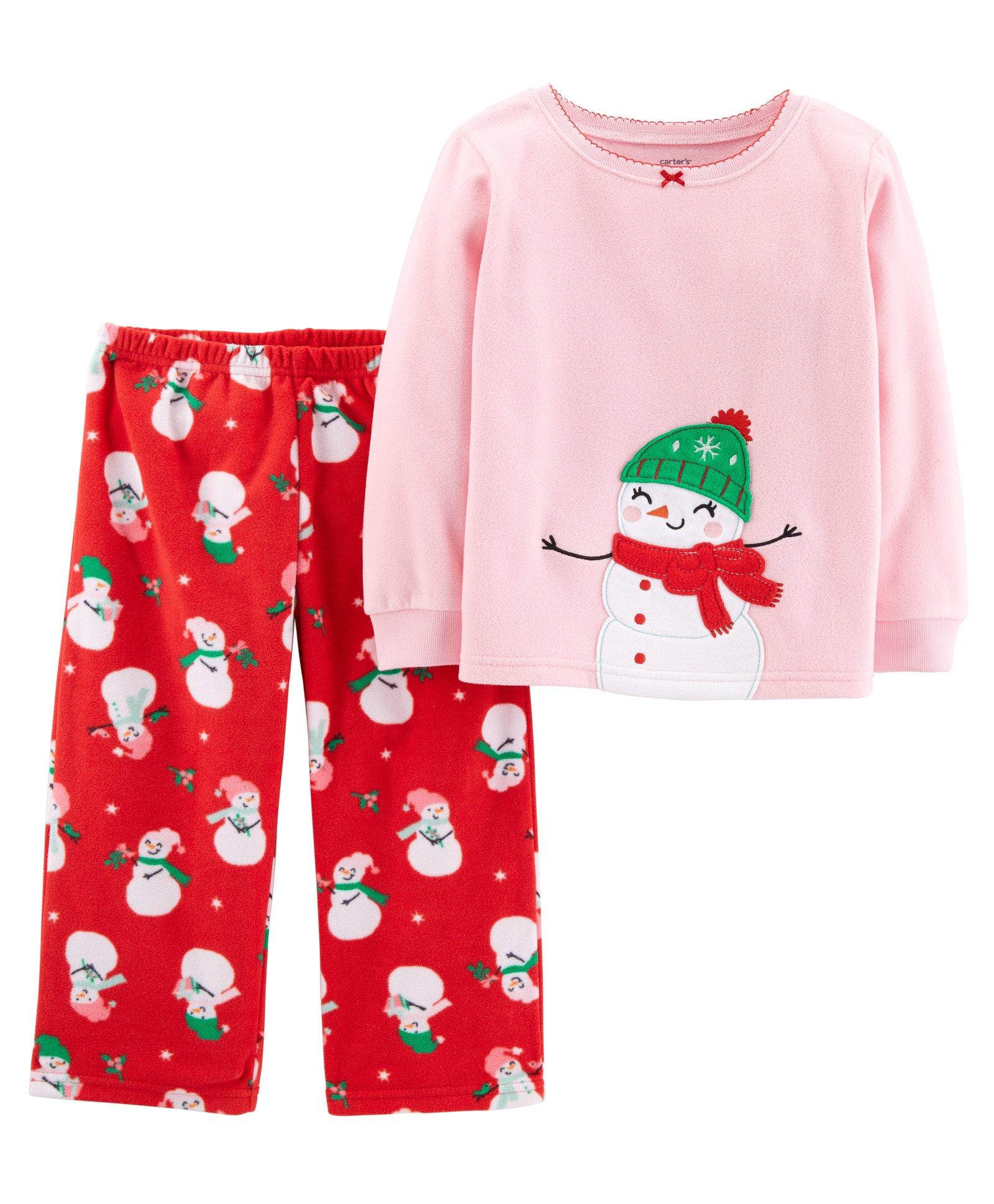 a9e8f0414 Buy Carters 2Piece Christmas Snowman Fleece Pajama Pink & Red ...