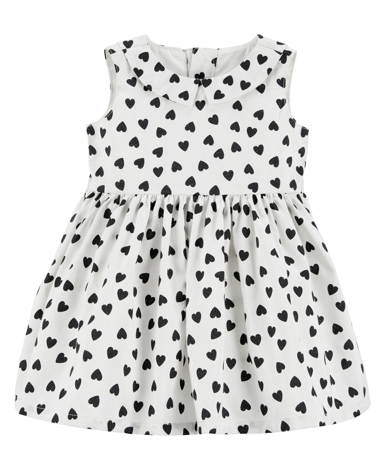 aad391254 Buy Carters Heart Bow Holiday Dress White Black for Girls (6-9 ...