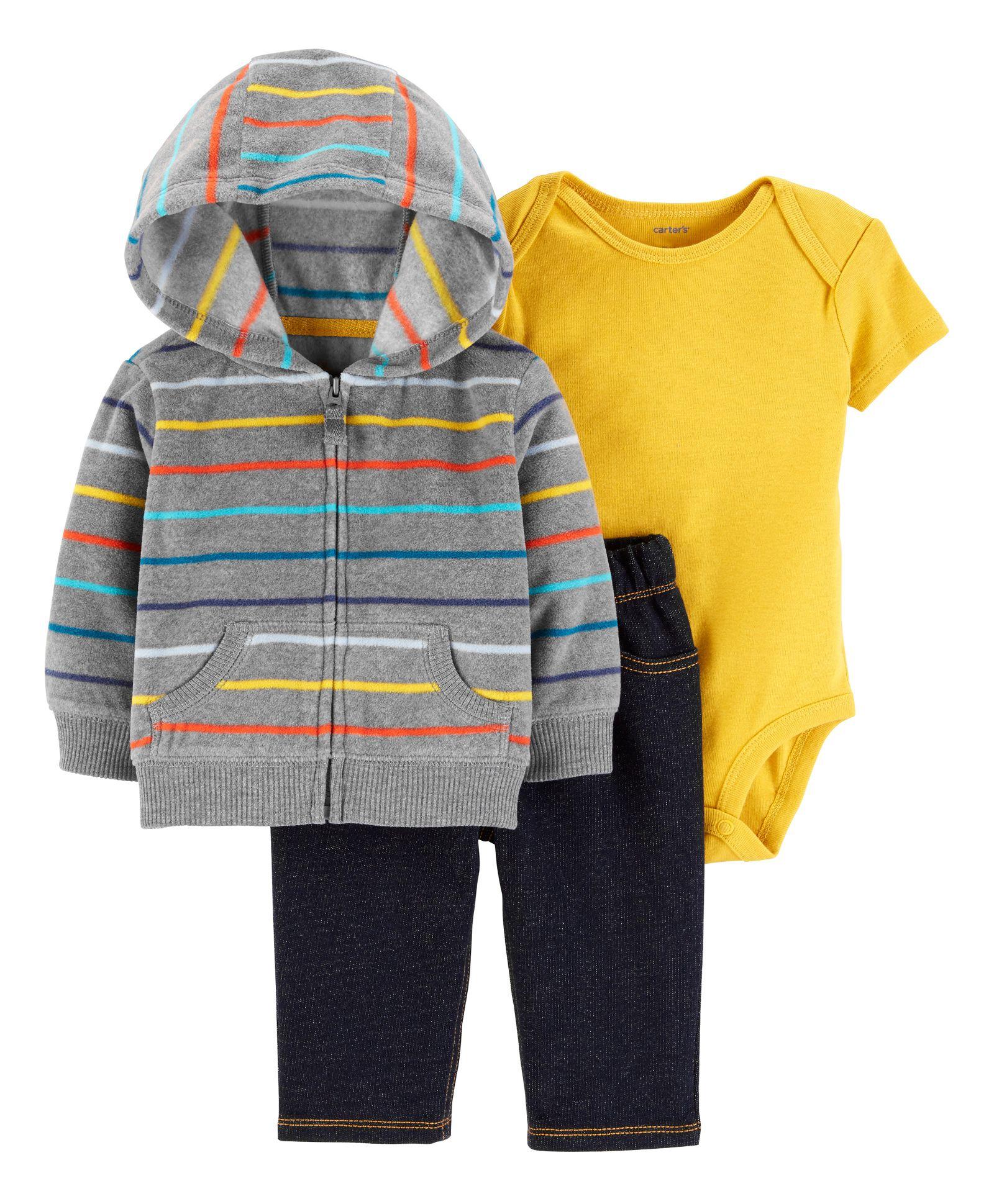 b184d3012 Buy Carters 3Piece Little Jacket Set Multicolour for Boys (0-3 Months ...
