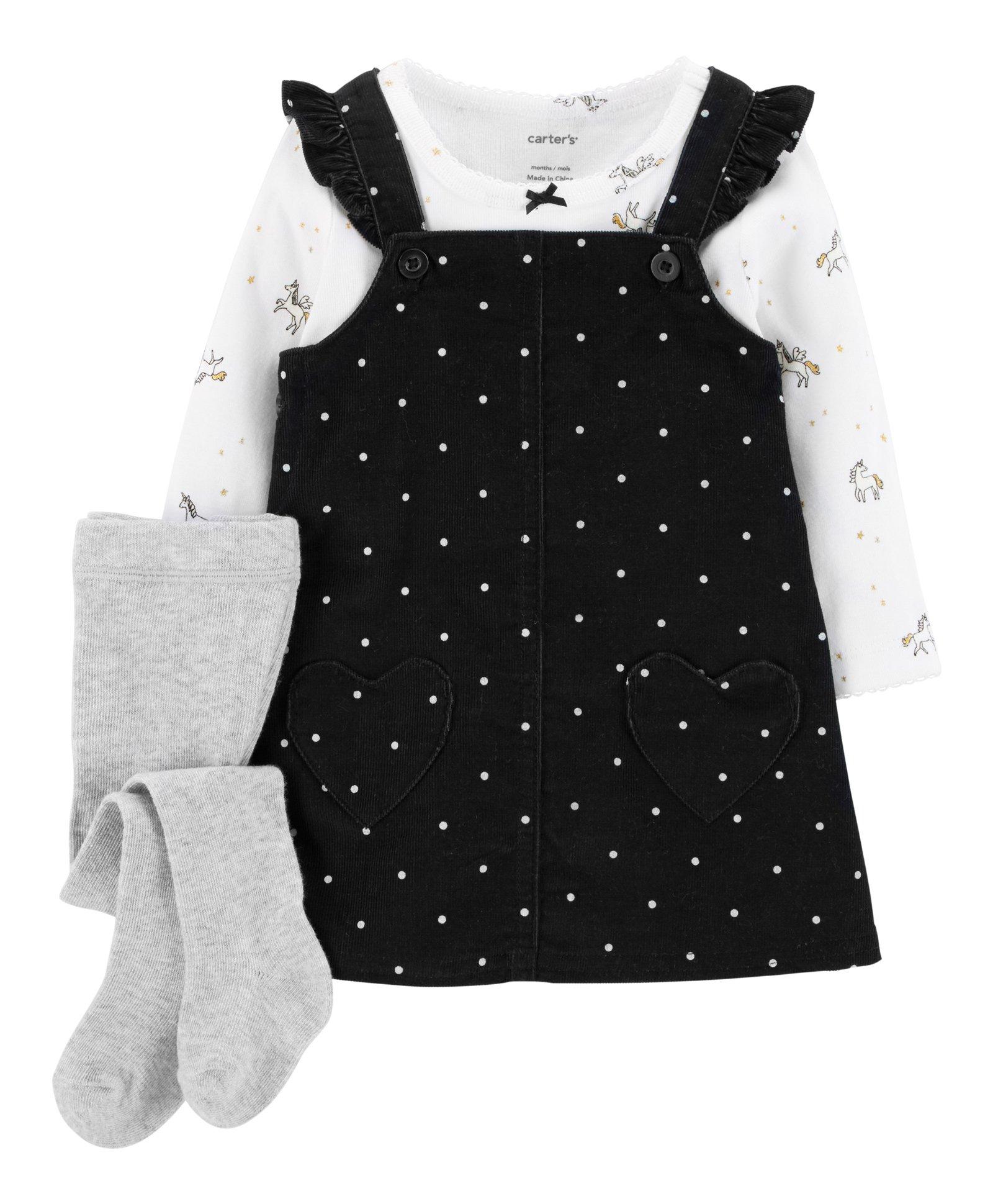 b0c037856e9f Buy Carters 3Piece Jumper Set Black for Girls (0-3 Months) Online in ...