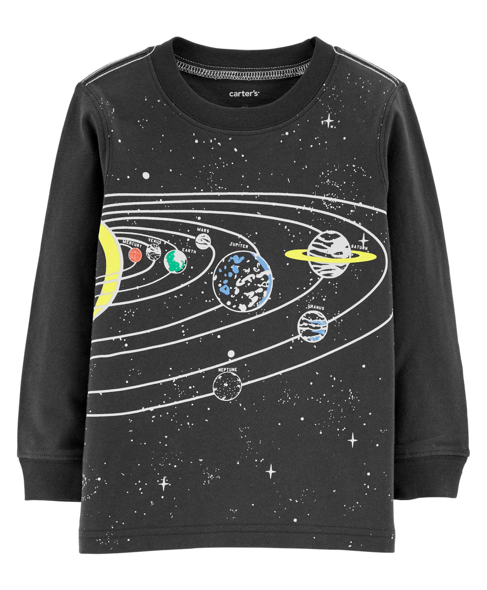 Buy Carters Glow In The Dark Solar System Textured Tee Grey For