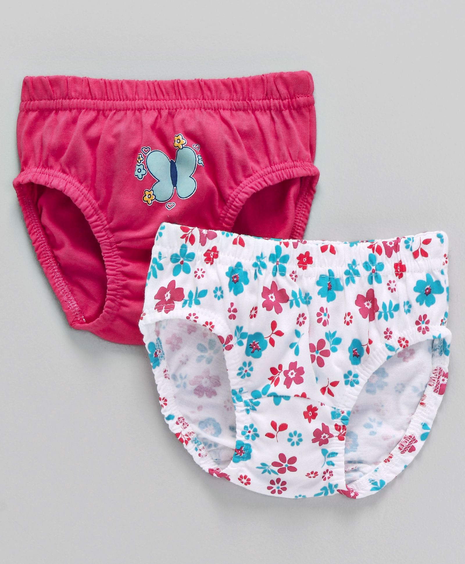 89b55f94cb8 Buy Babyhug Cotton Panties Floral Print Pack of 2 White Pink for Girls ...