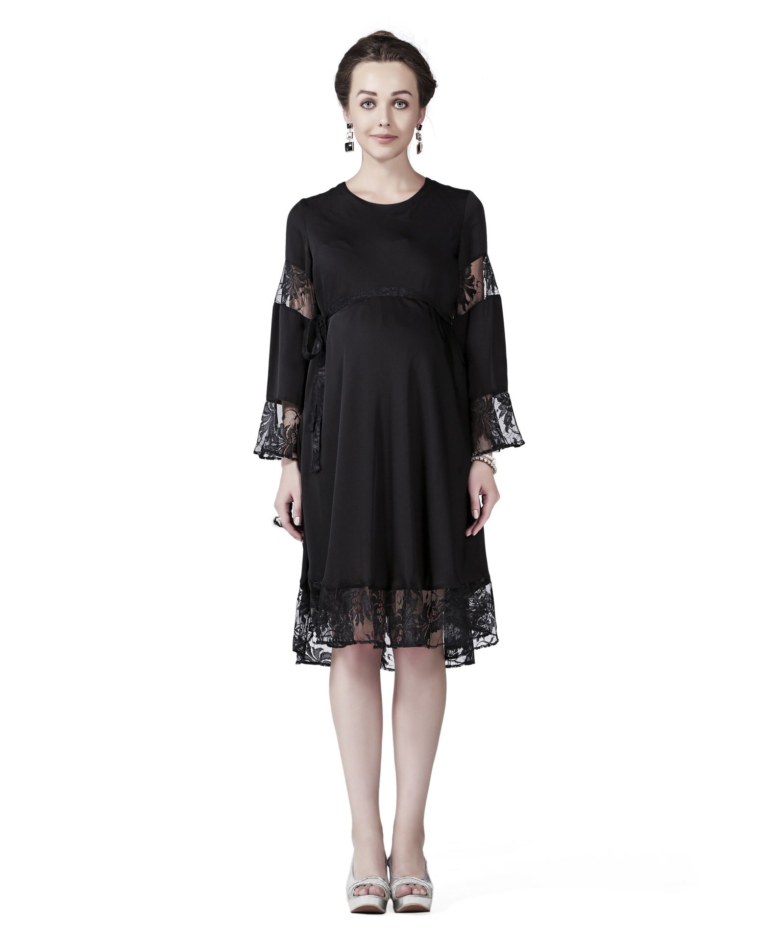 5f76fdbac9292 Innovative Pretty Lace Dress Black Online in India, Buy at Best Price from  Firstcry.com - 1981888