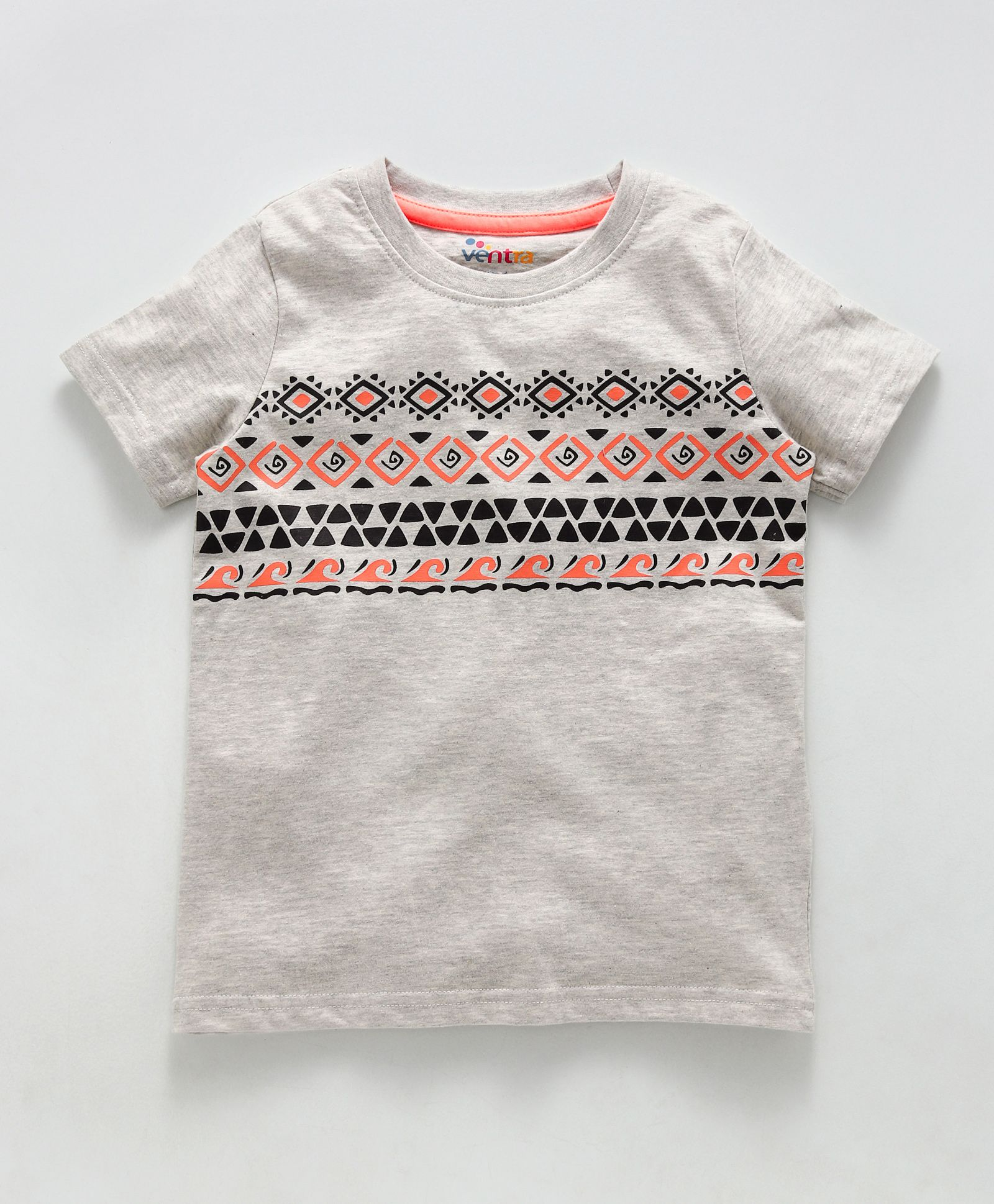 68a93d48 Buy Ventra Abstract Design TShirt Grey for Boys (3-4 Years) Online in ...
