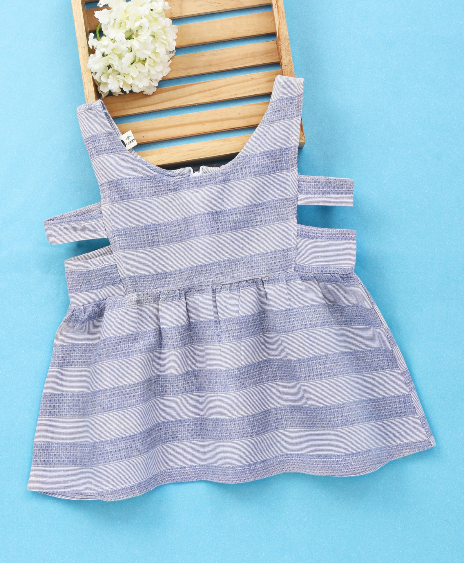 9270c908dee69 Buy Fashion Baby Striped Dress With Side Open Bodice Grey for Girls (6-7  Years) Online in India, Shop at FirstCry.com - 2082745