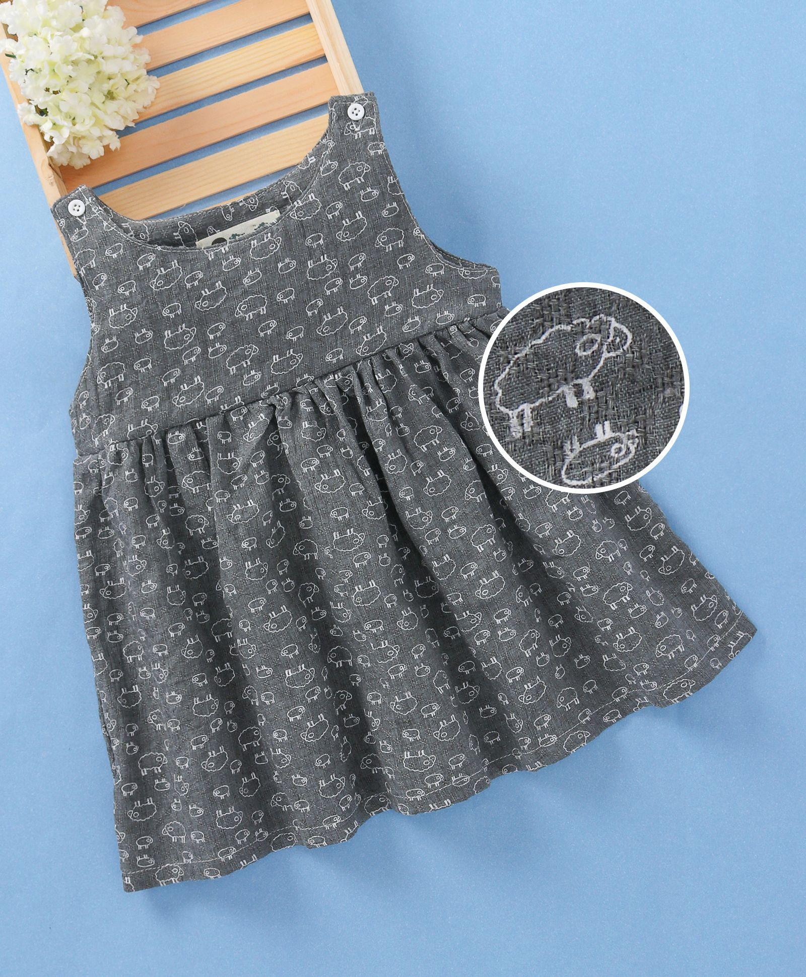 0b5d2519c90d Buy Fashion Baby Animal Print Dress Grey for Girls (5-6 Years) Online ...