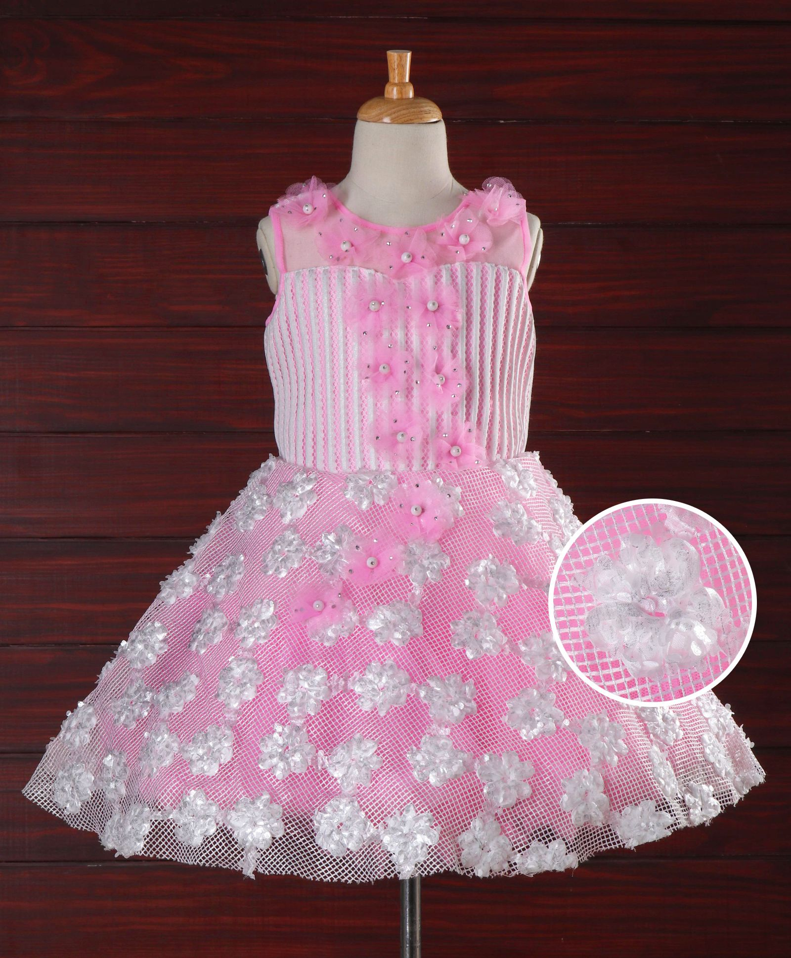 b2f280029c Buy Enfance Glitter Work Sleeveless Party Wear Dress Pink for Girls (6-12  Months) Online in India, Shop at FirstCry.com - 2146787