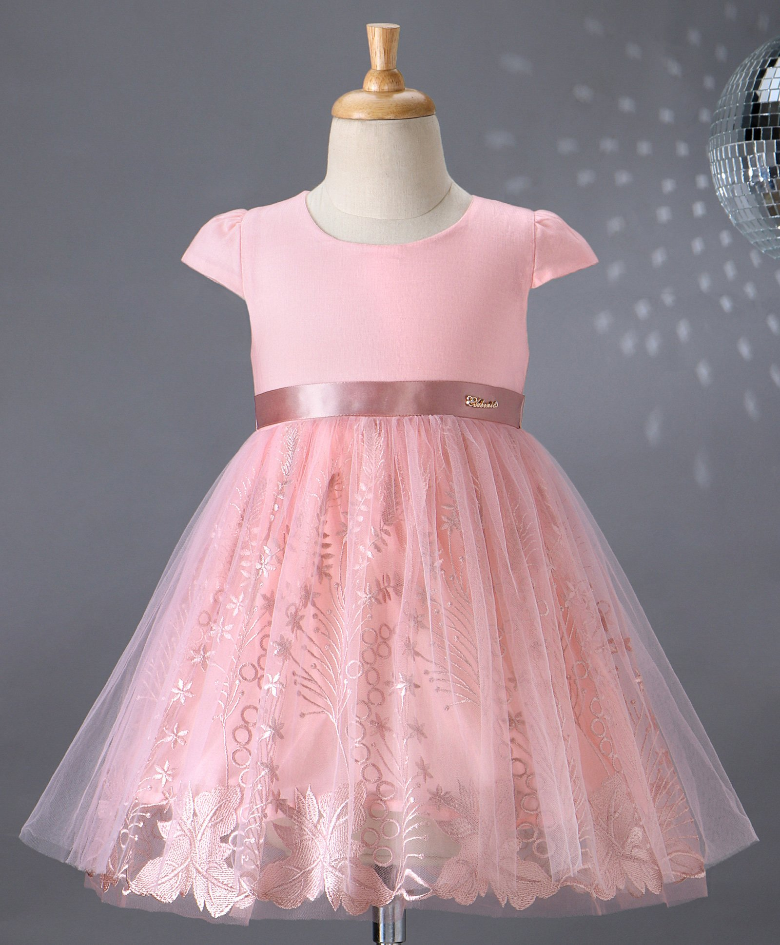 Dresses Baby Creative Girls Pink And Cream A-line Dress 24months