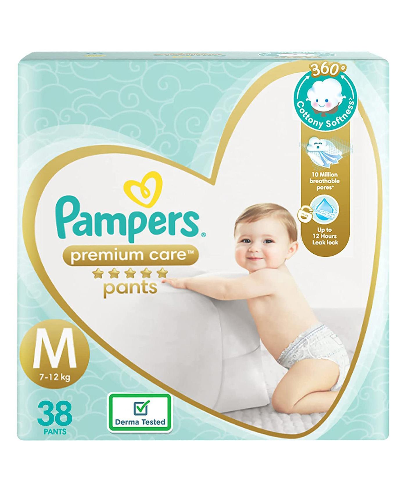 b90d37d42d Pampers Premium Care Pant Style Diapers Medium Size 38 Pieces ...