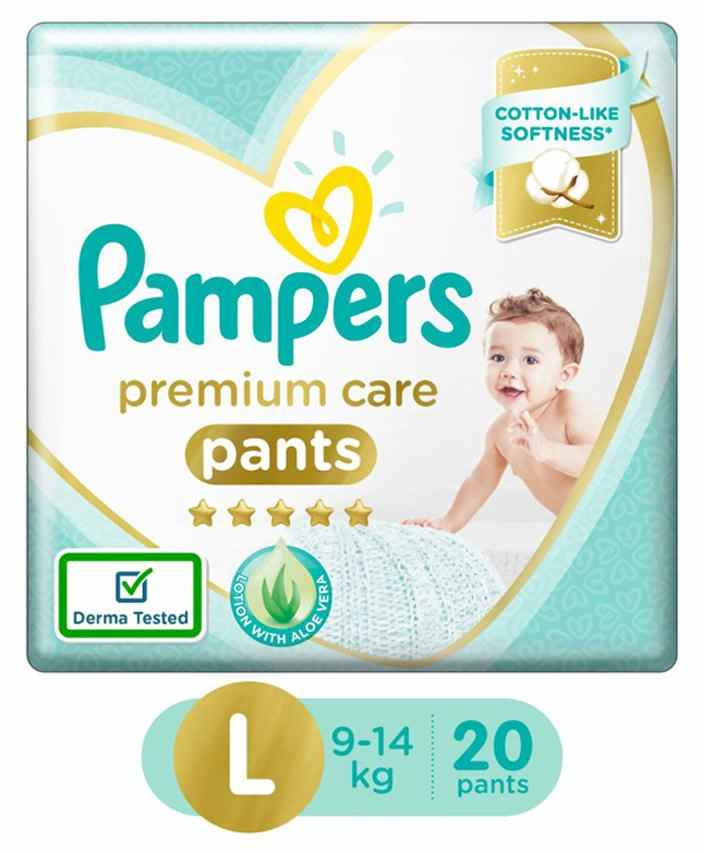 e7c6a9f3379 Pampers Premium Care Pant Style Diapers Large 20 Pieces Online in ...