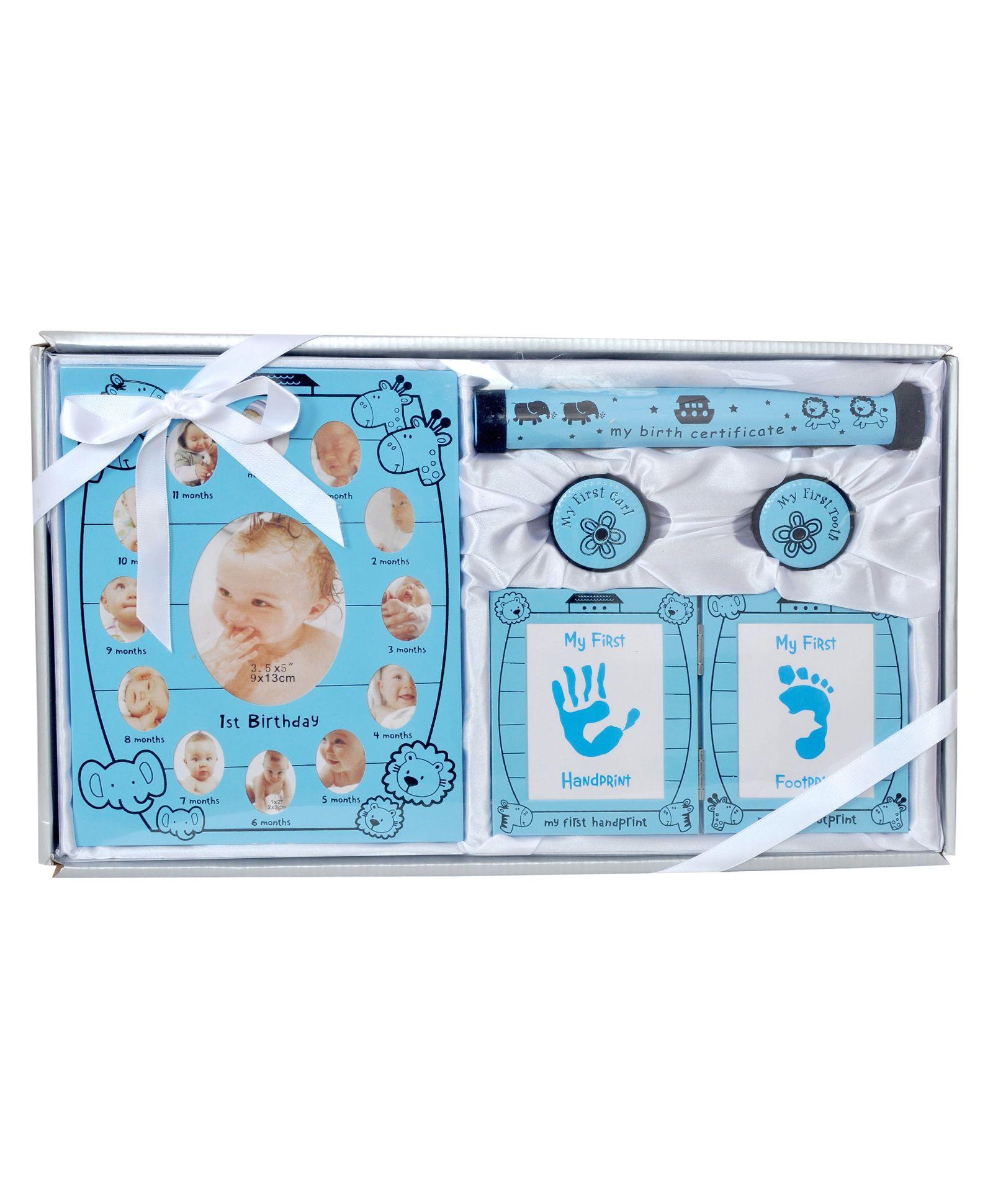 1c8d315a8 Passion Petals Newborn Baby Hand And Foot Print Gift Set Blue 5 ...
