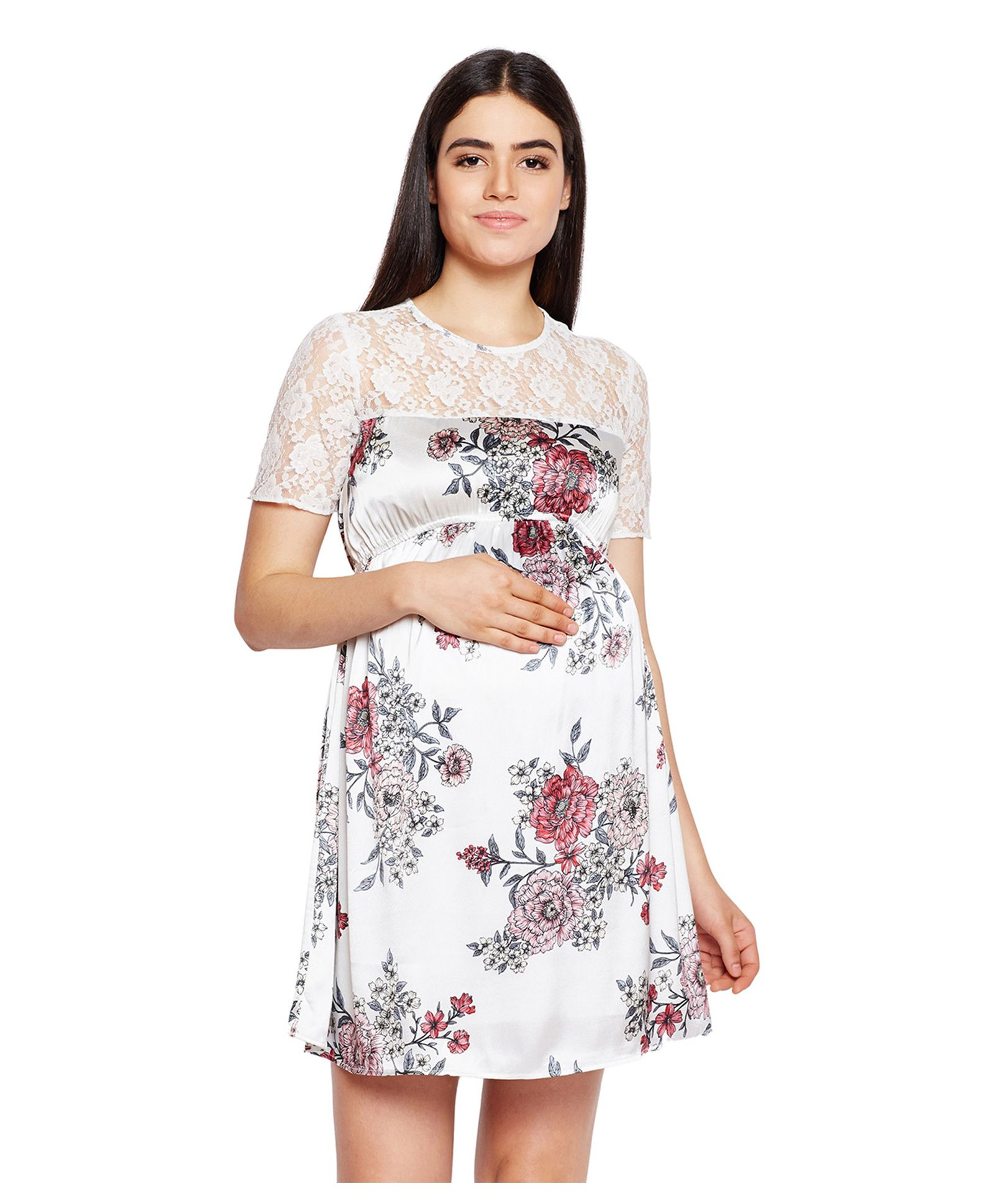 cf870824f727 White Floral Dress Online India