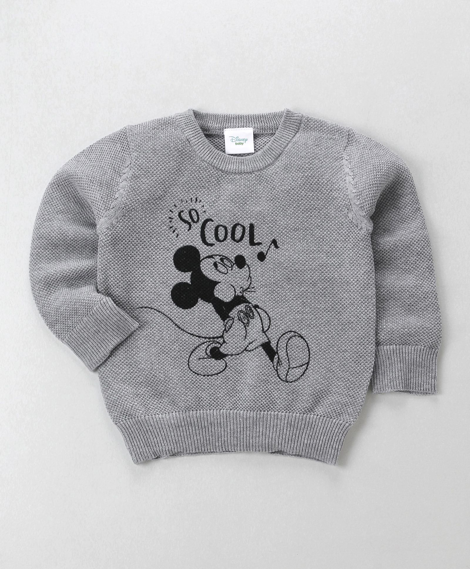 786d7cd2060 Buy Fox Baby Full Sleeves Winter Wear Tee Mickey Print Grey for ...