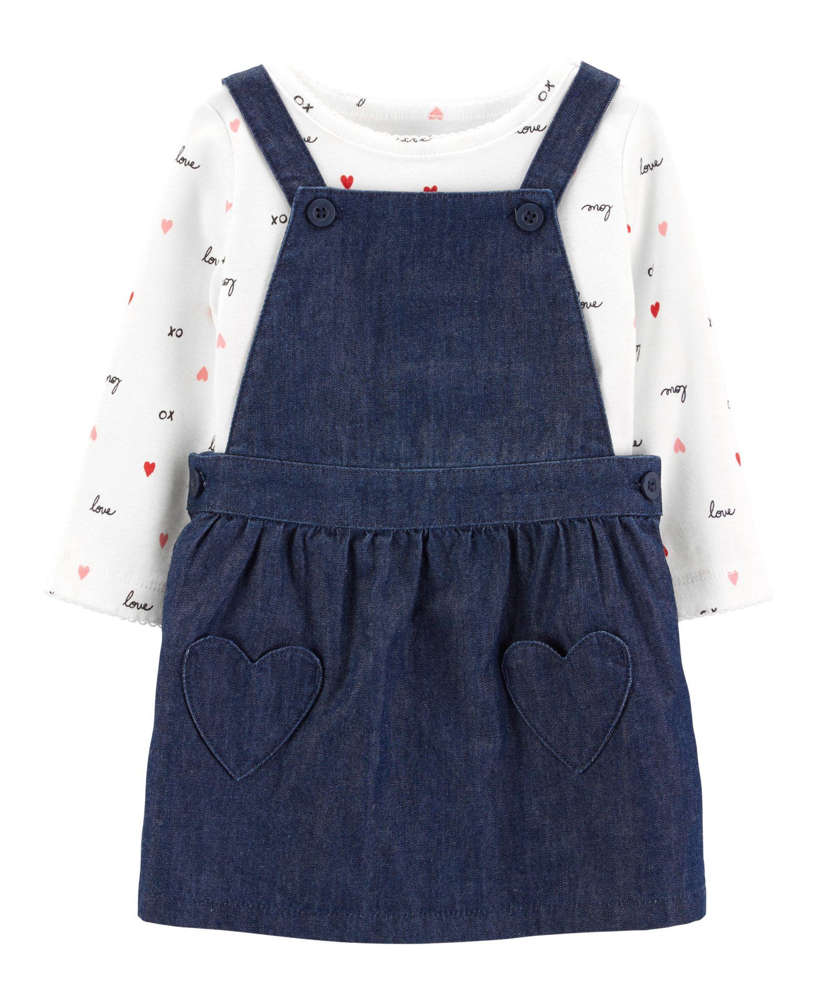 4a42c520e6a78 Buy Carters 2Piece Valentines Day Skirtall Set Blue for Girls (0-3 Months)  Online in India, Shop at FirstCry.com - 2193361