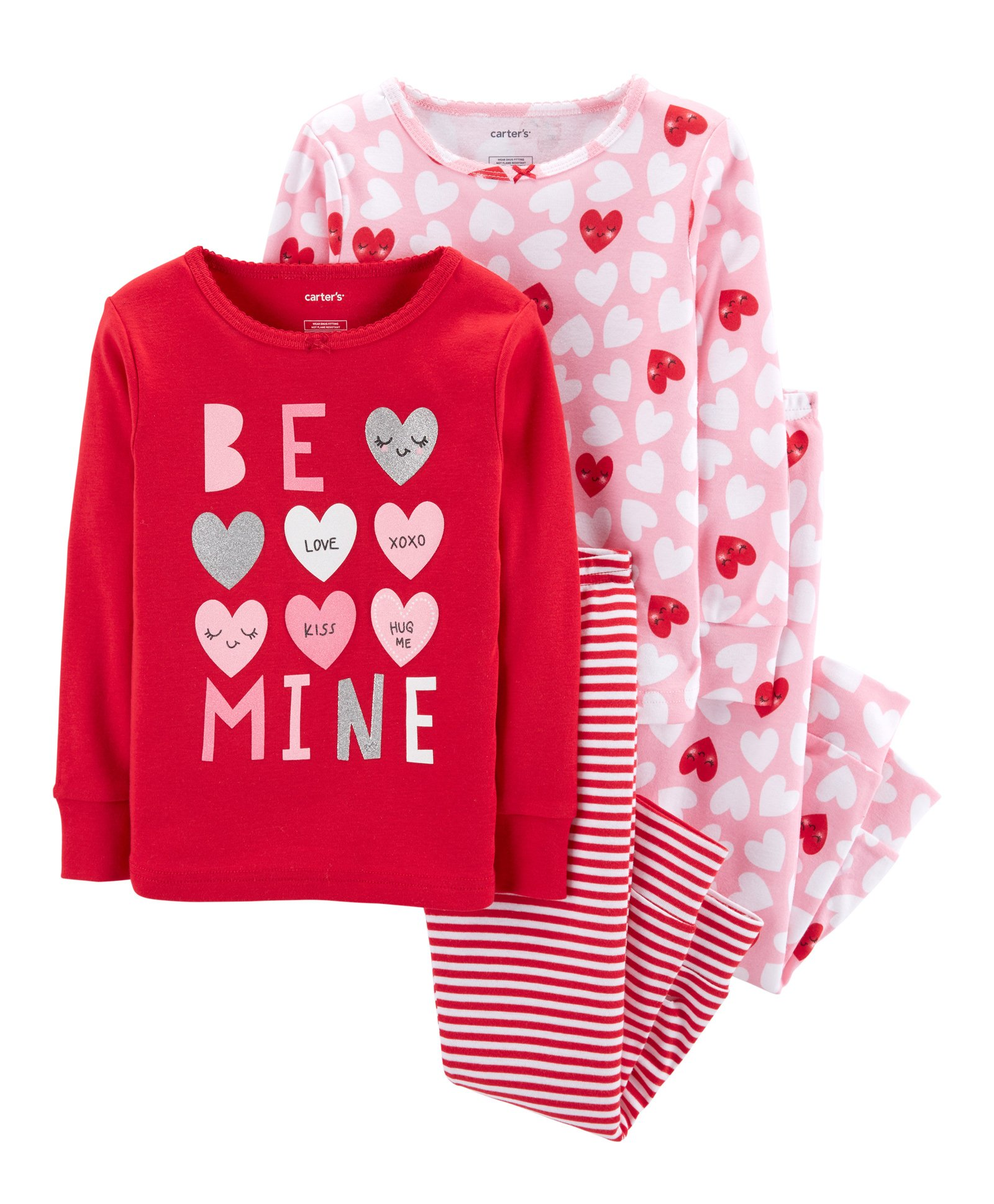 179f609d39965 Buy Carters 4Piece Valentines Day Snug Fit Cotton PJs Red for Girls (3-6  Months) Online in India, Shop at FirstCry.com - 2193424