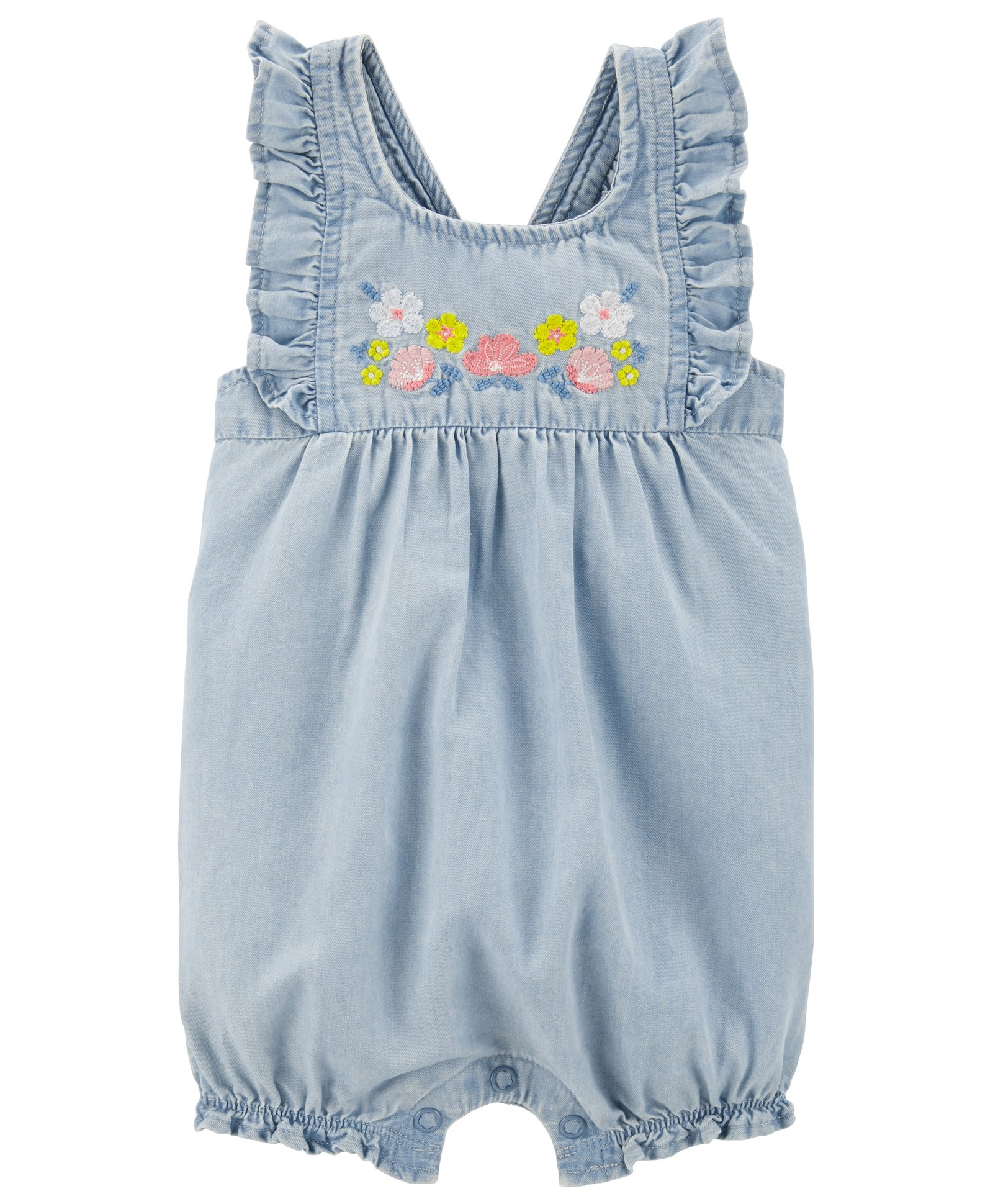 4b750727e Buy Carters Floral Chambray Romper Blue for Girls (6-9 Months ...
