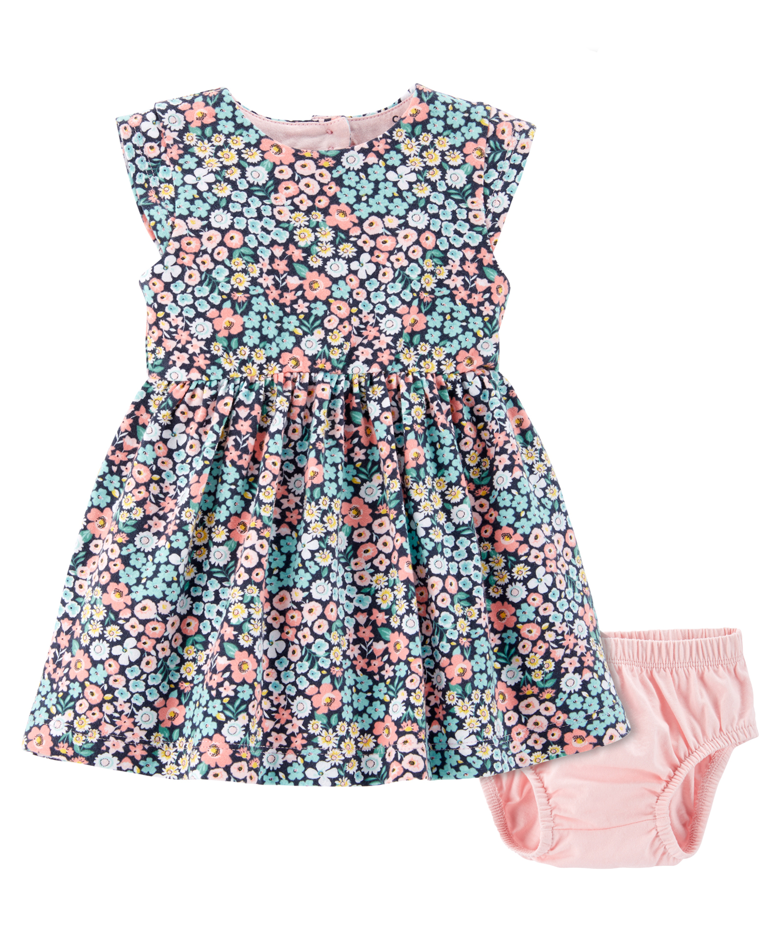 35fcf8e1 Buy Carters Floral Jersey Dress Multicolour for Girls (9-12 Months ...