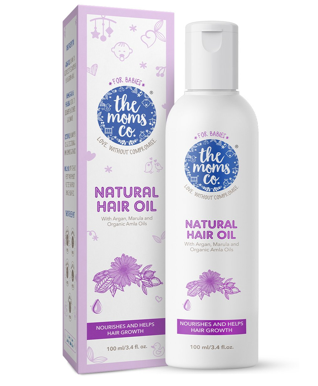 5a6a54726 The Moms Co Natural Baby Hair Oil 100 m Online in India