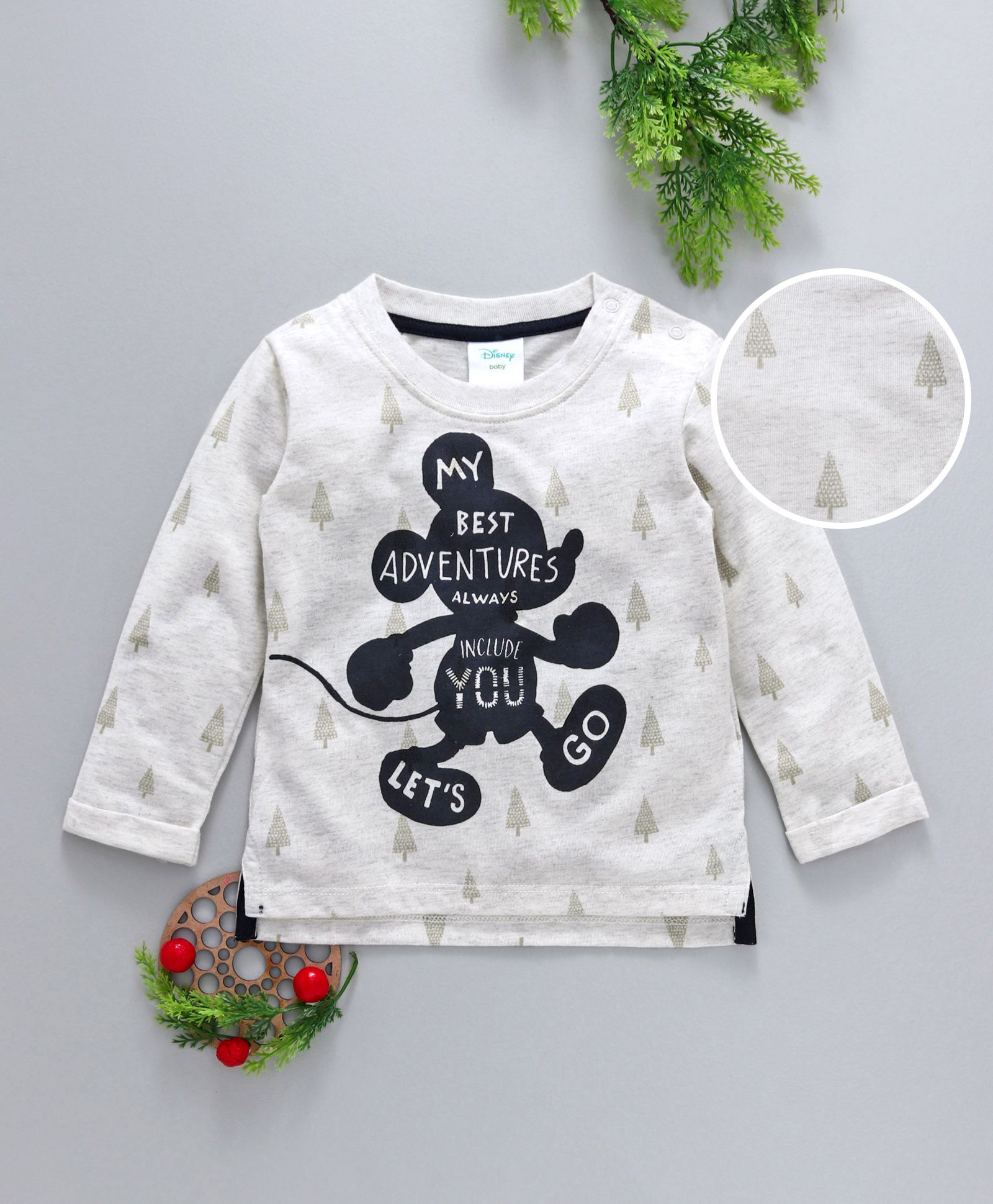 455ea4534 Buy Fox Baby Full Sleeves Tee Mickey Mouse Print White for Boys (3 ...