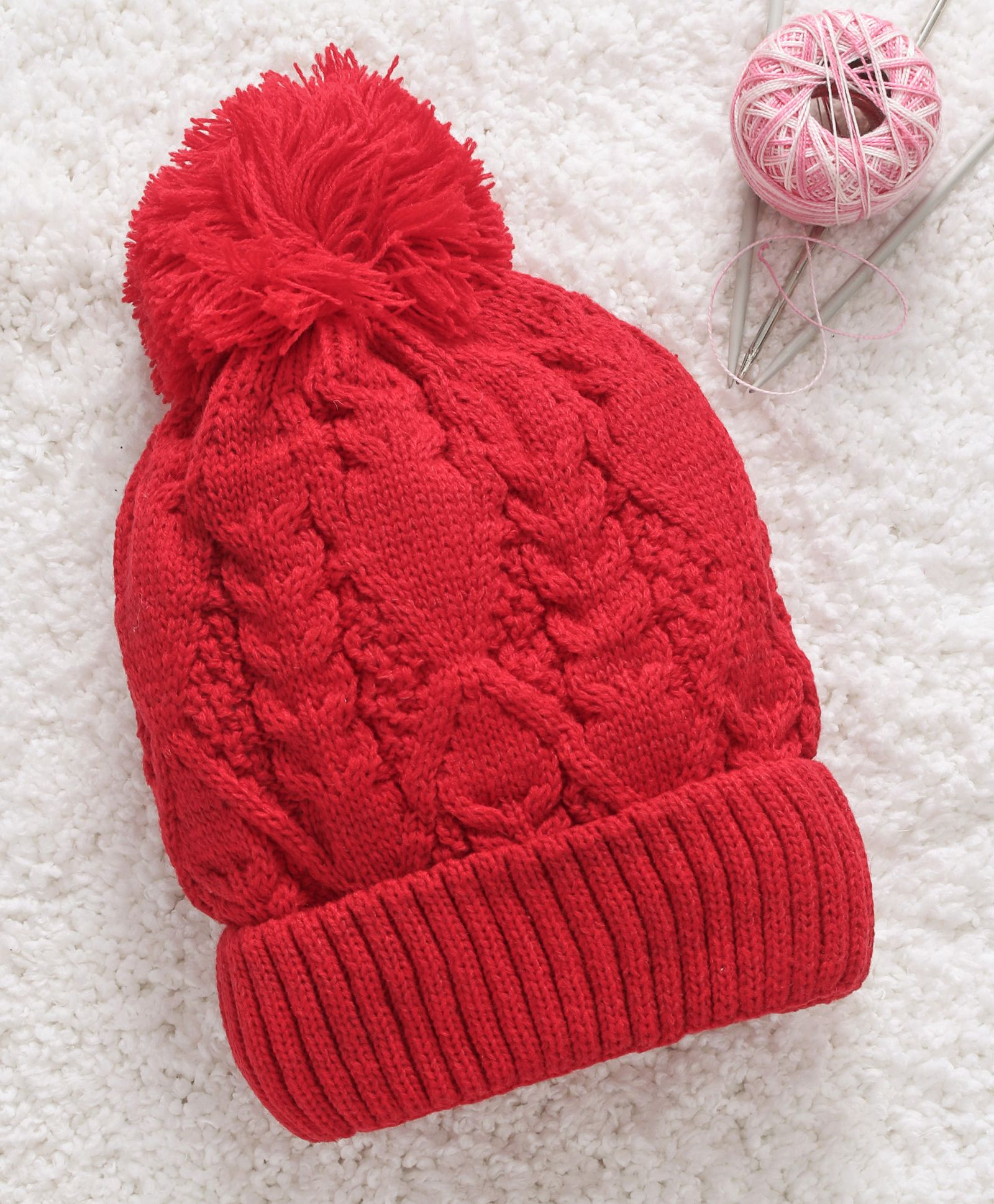 bc1393f44d5 Babyhug Woollen Cap With Pom Pom Red Online in India