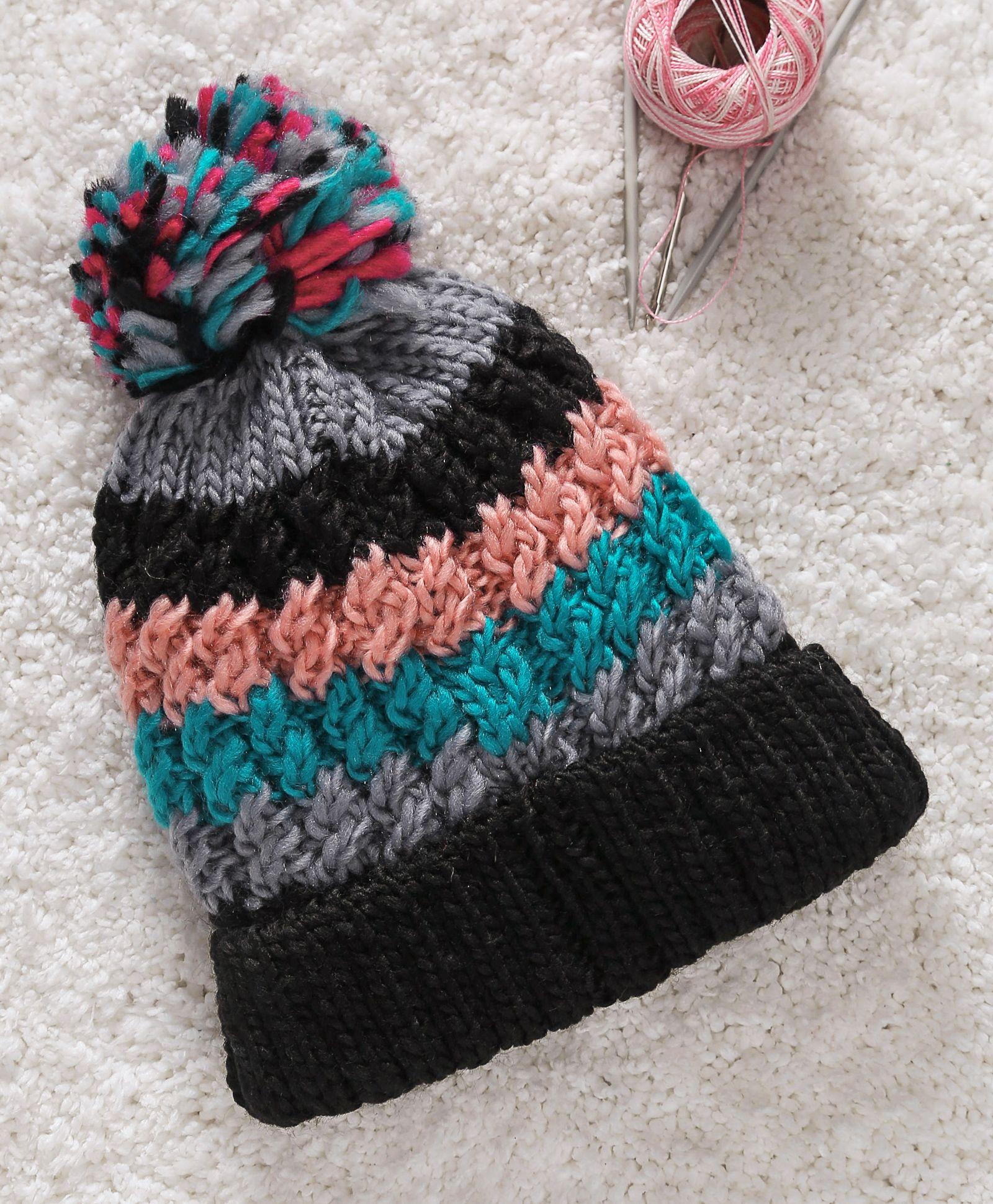 0e8a55a390f Babyhug Winter Wear Cap With Pom Pom Motif Black Online in India ...