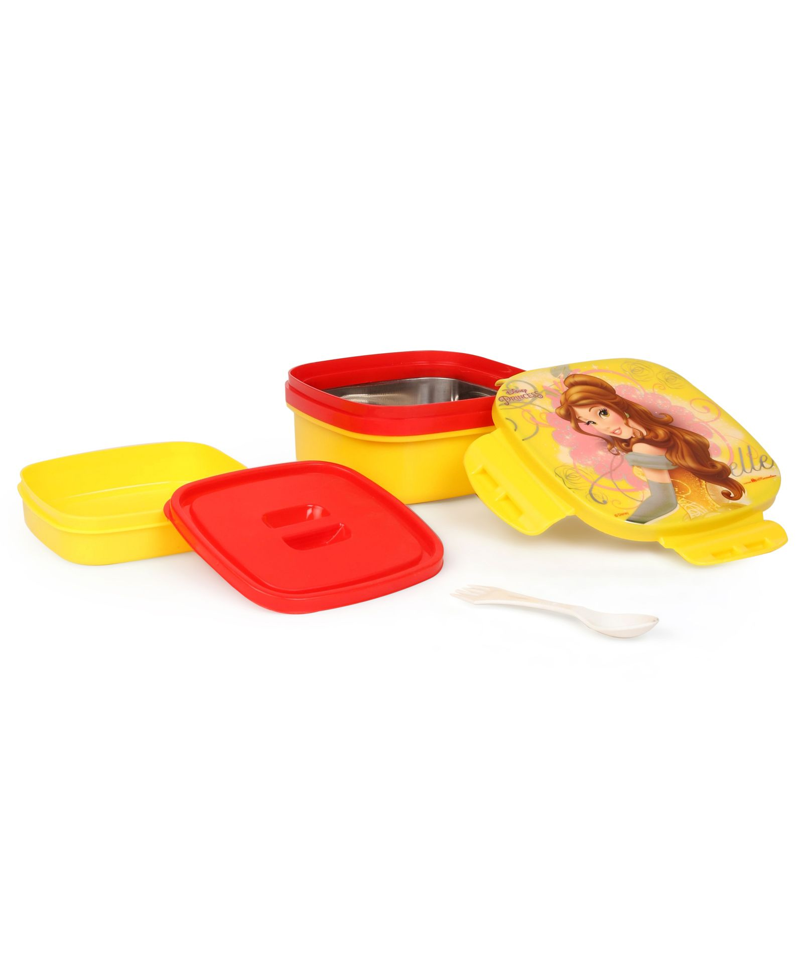 2195111a6a6 Disney Princess Belle Insulated Lunch Box With Stainless Steel Inside -  Yellow   Red