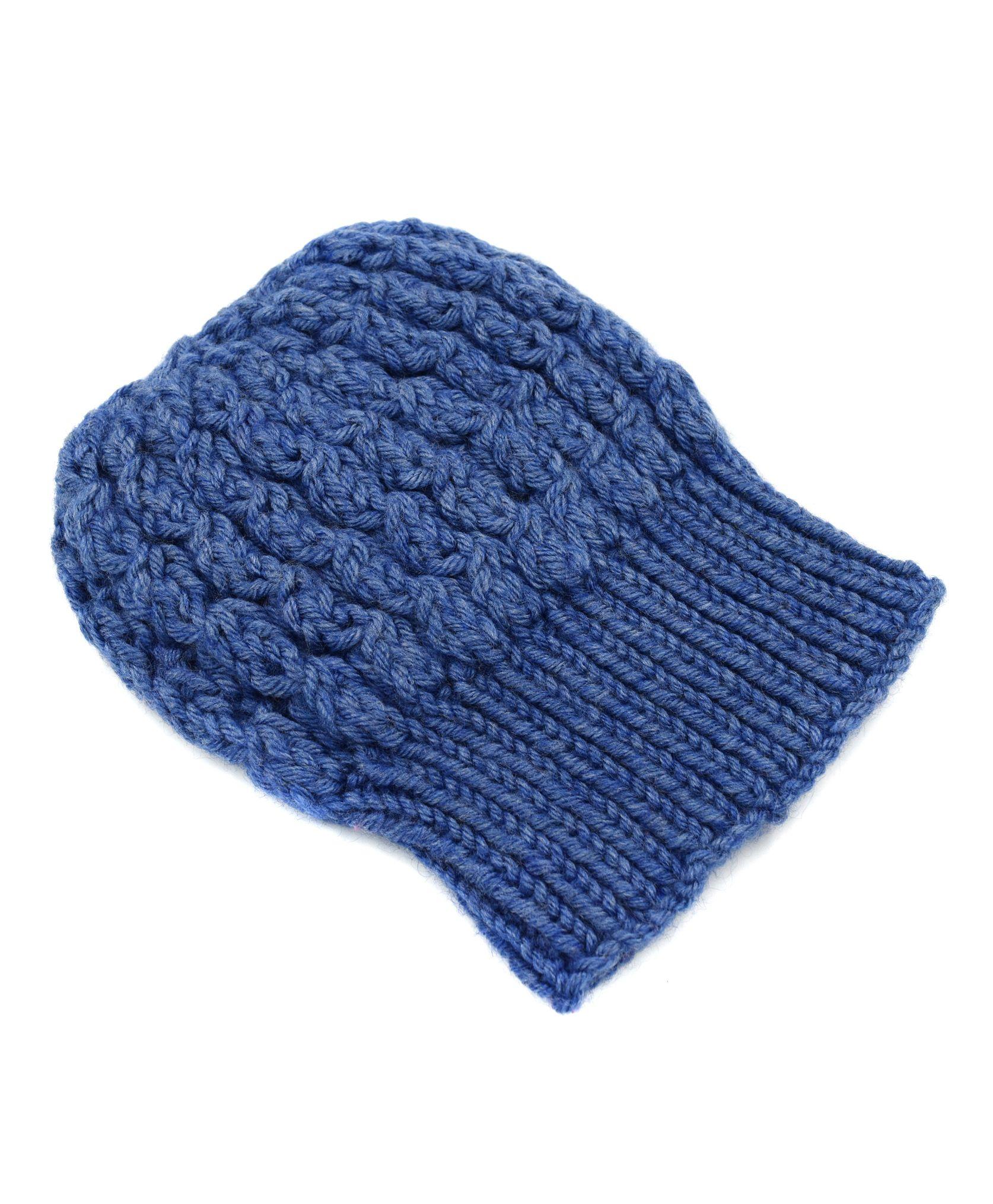 d999346af6b Magic Needles Winter Wear Slouch Shroom Beanie Cap Dark Blue ...