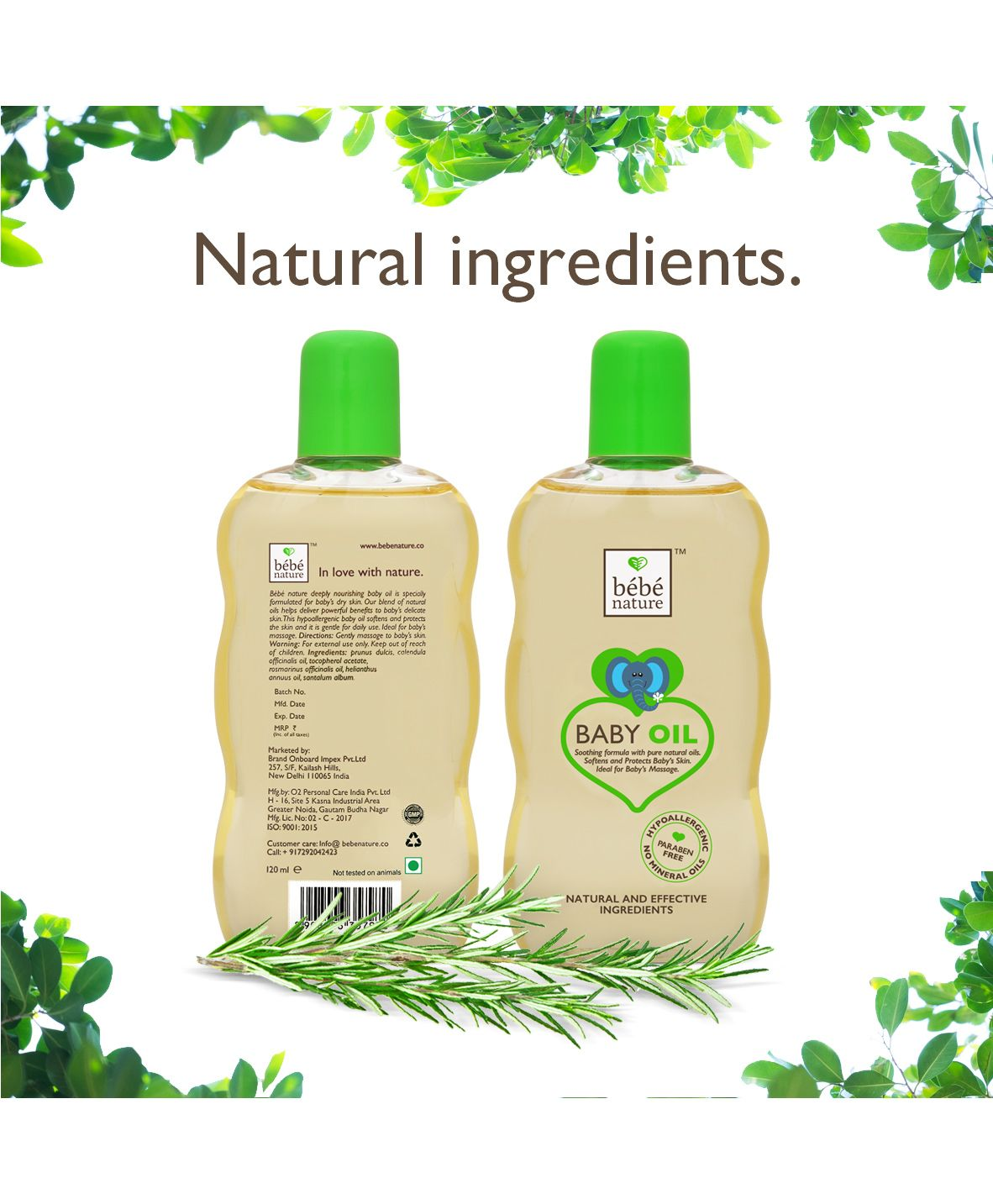 Bebe Nature Natural Baby Massage Oil With Sweet Almond Oil