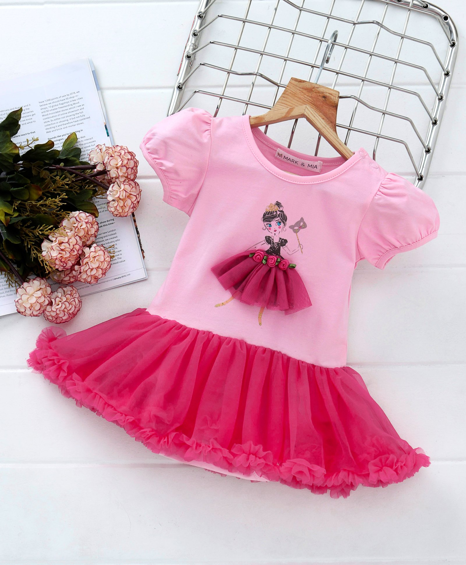 77fa7aa656979 Buy Mark & Mia Doll Print Cap Sleeves Onesie Dress Pink for Girls (6-9  Months) Online in India, Shop at FirstCry.com - 2402852