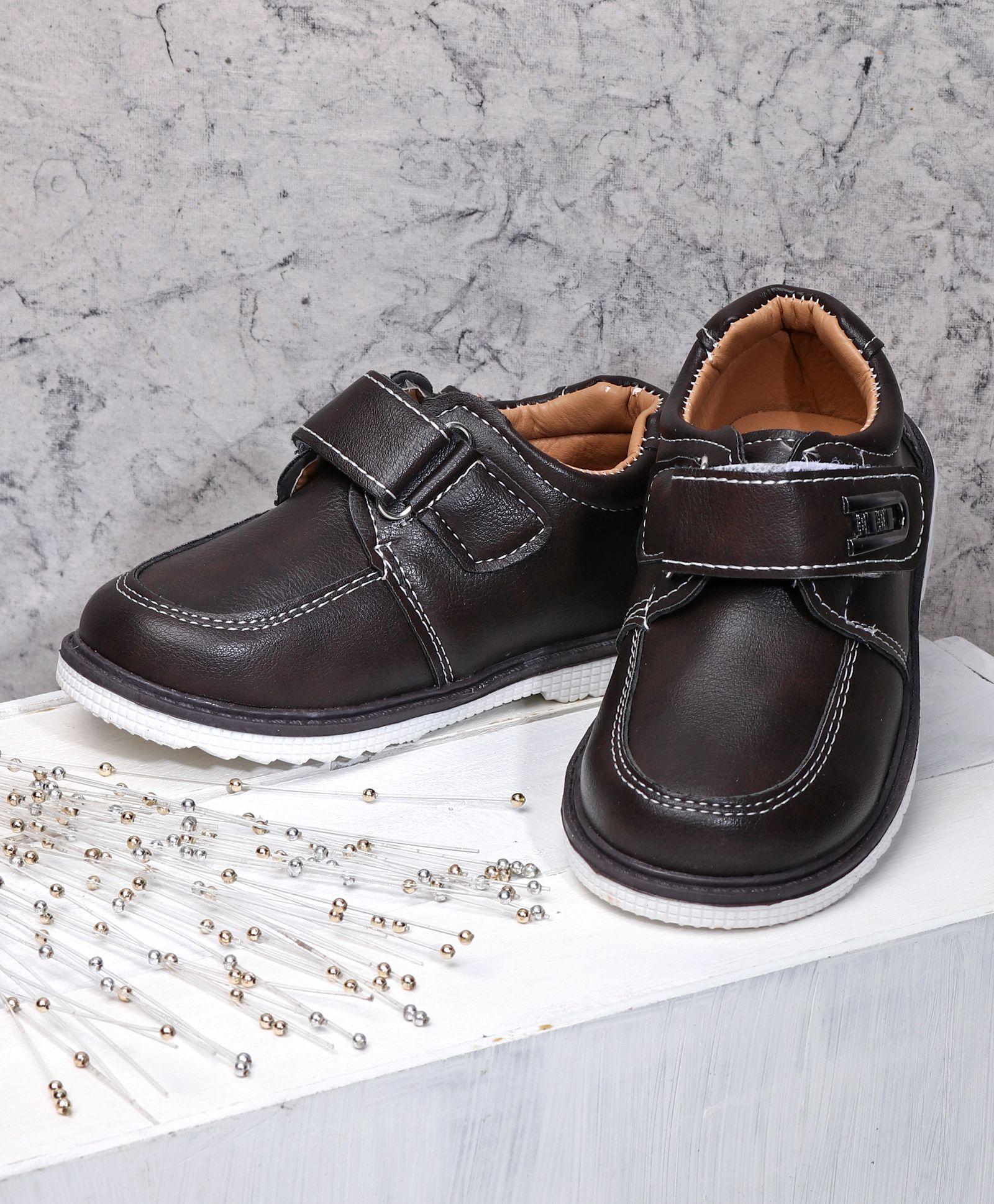 a5aada230ff8 Buy Cute Walk by Babyhug Formal Shoes Dark Brown for Boys (2-2 ...