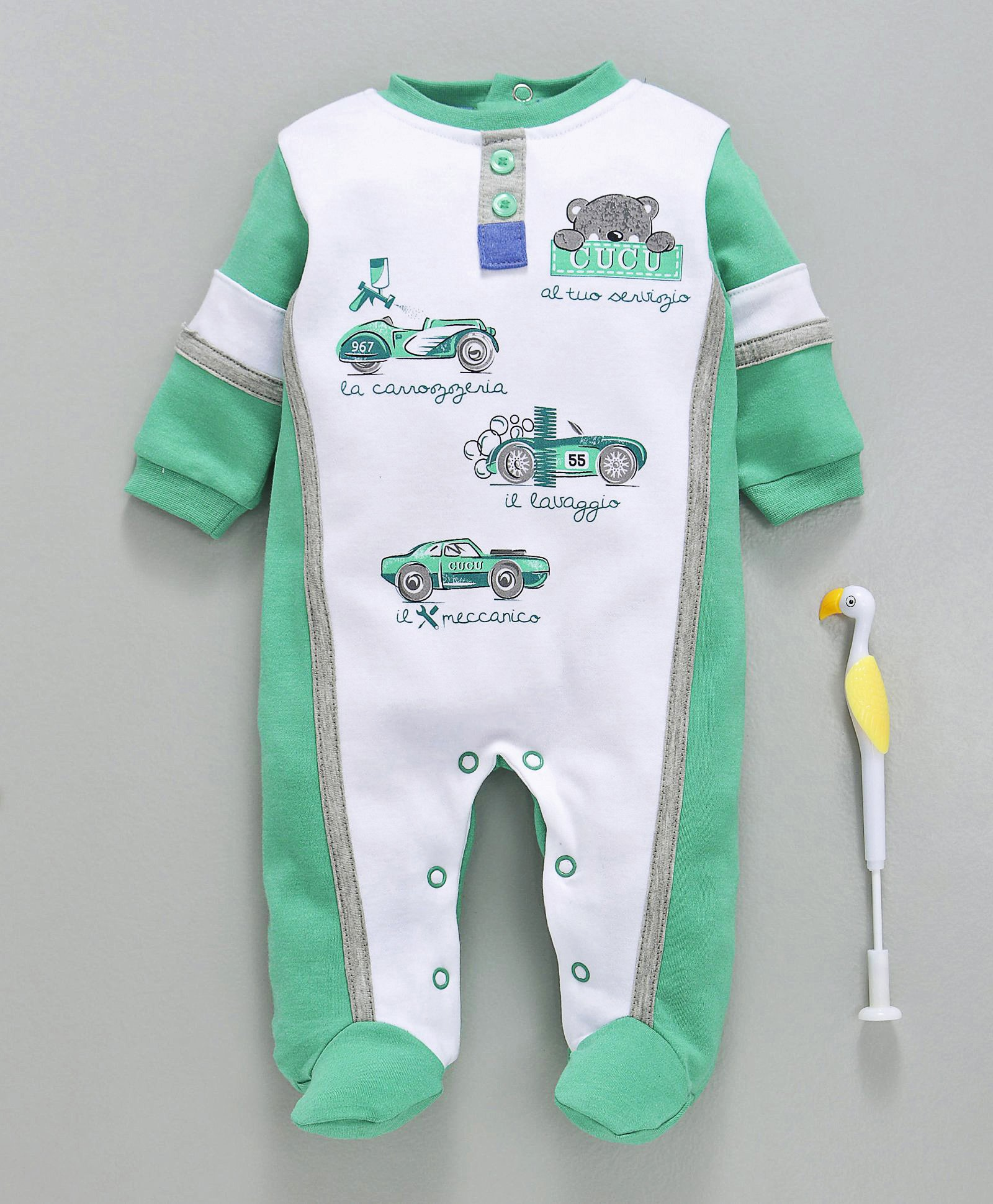 Popular Brand Size Long Sleeve Footed Romper X 2 High Quality Goods 12 Months