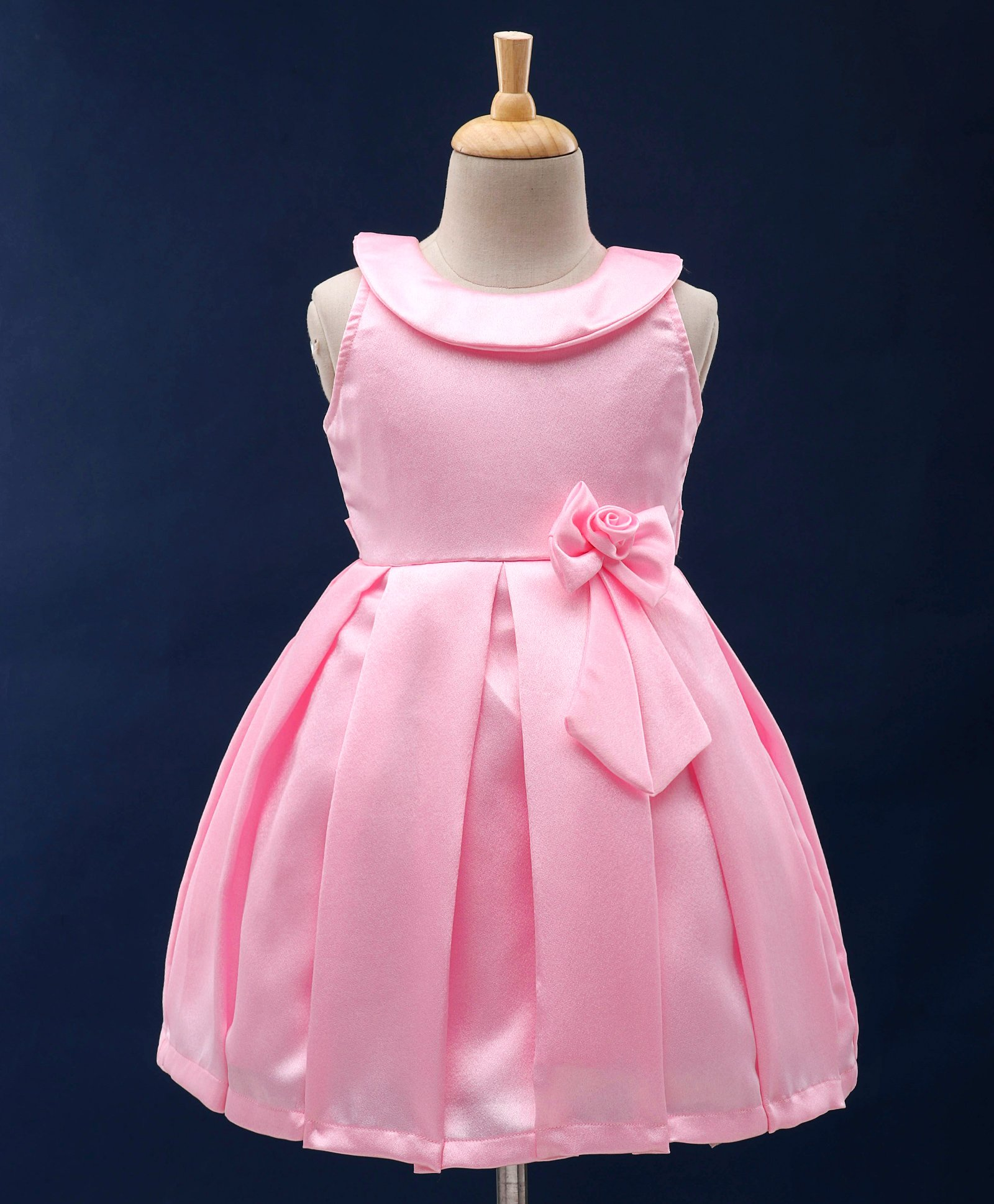 4c5043320597c Buy Babyhug Sleeveless Party Wear Frock Rose Motif Pink for Girls (2-3  Years) Online in India, Shop at FirstCry.com - 2426181
