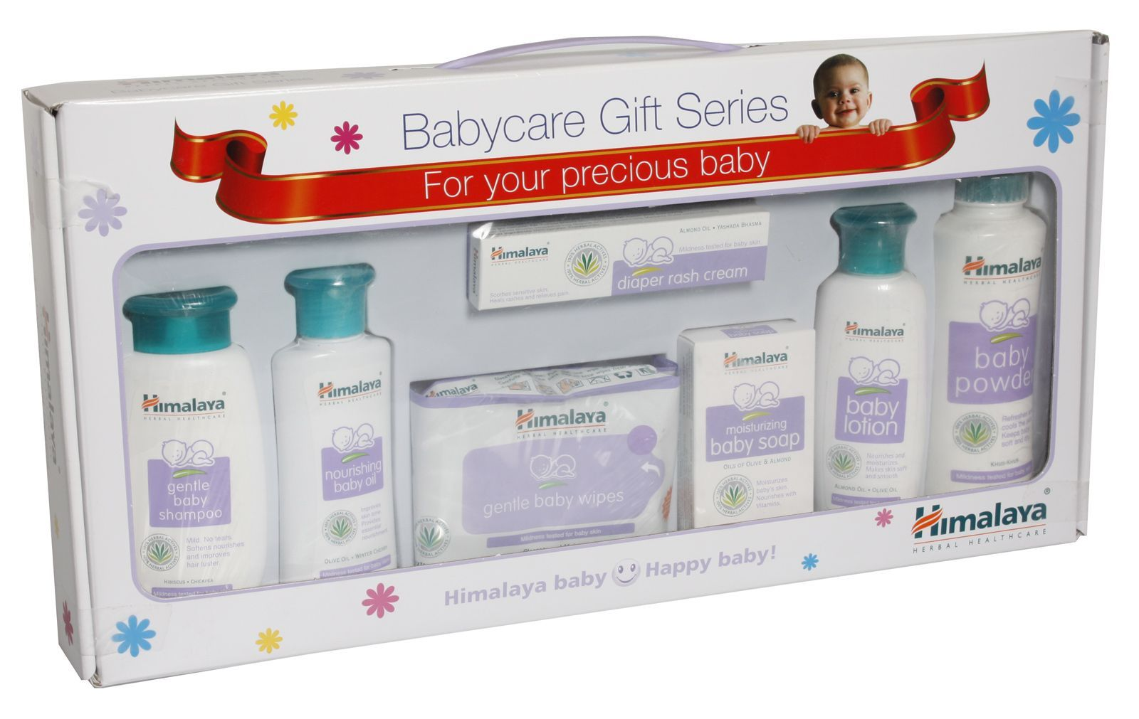 0a71857f4de6f Himalaya Baby Care Gift Pack of 7 With Window Packaging for Both (1 ...