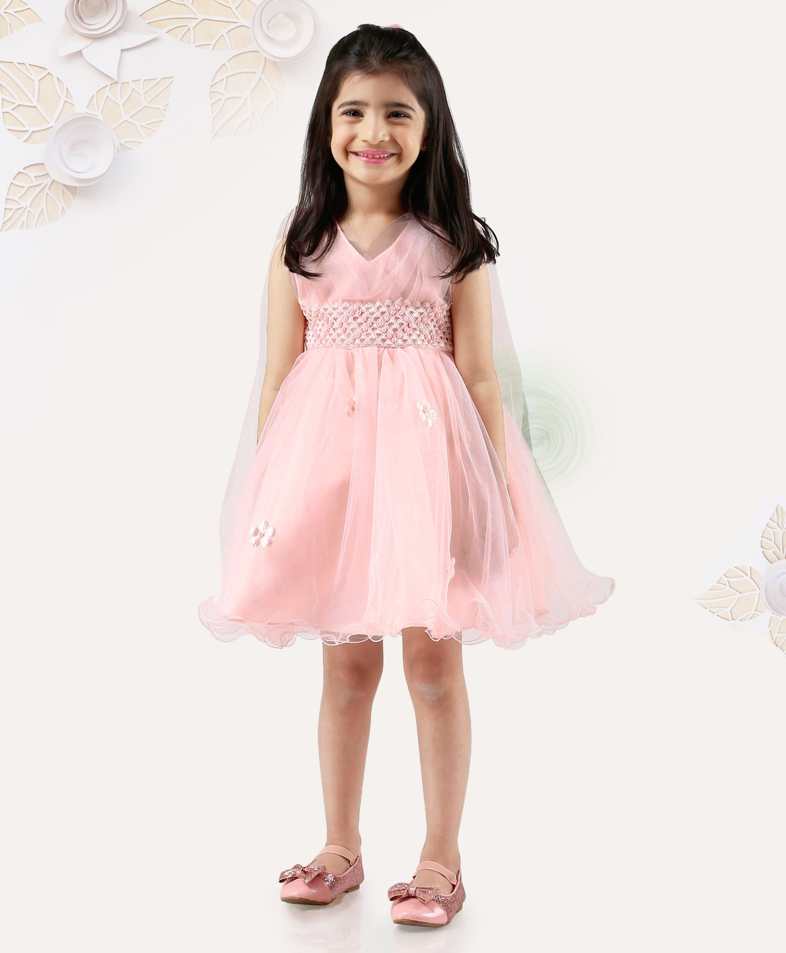 54736804c0004 Buy Mark & Mia Sleeveless Frock With Flower Applique Peach for Girls (18-24  Months) Online in India, Shop at FirstCry.com - 2445128