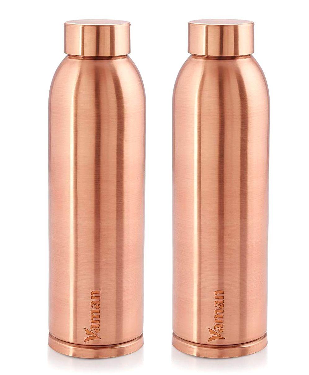 7cca215014 Hazel Vaman Copper Water Bottle Set of 2 900 ml Online in India, Buy ...