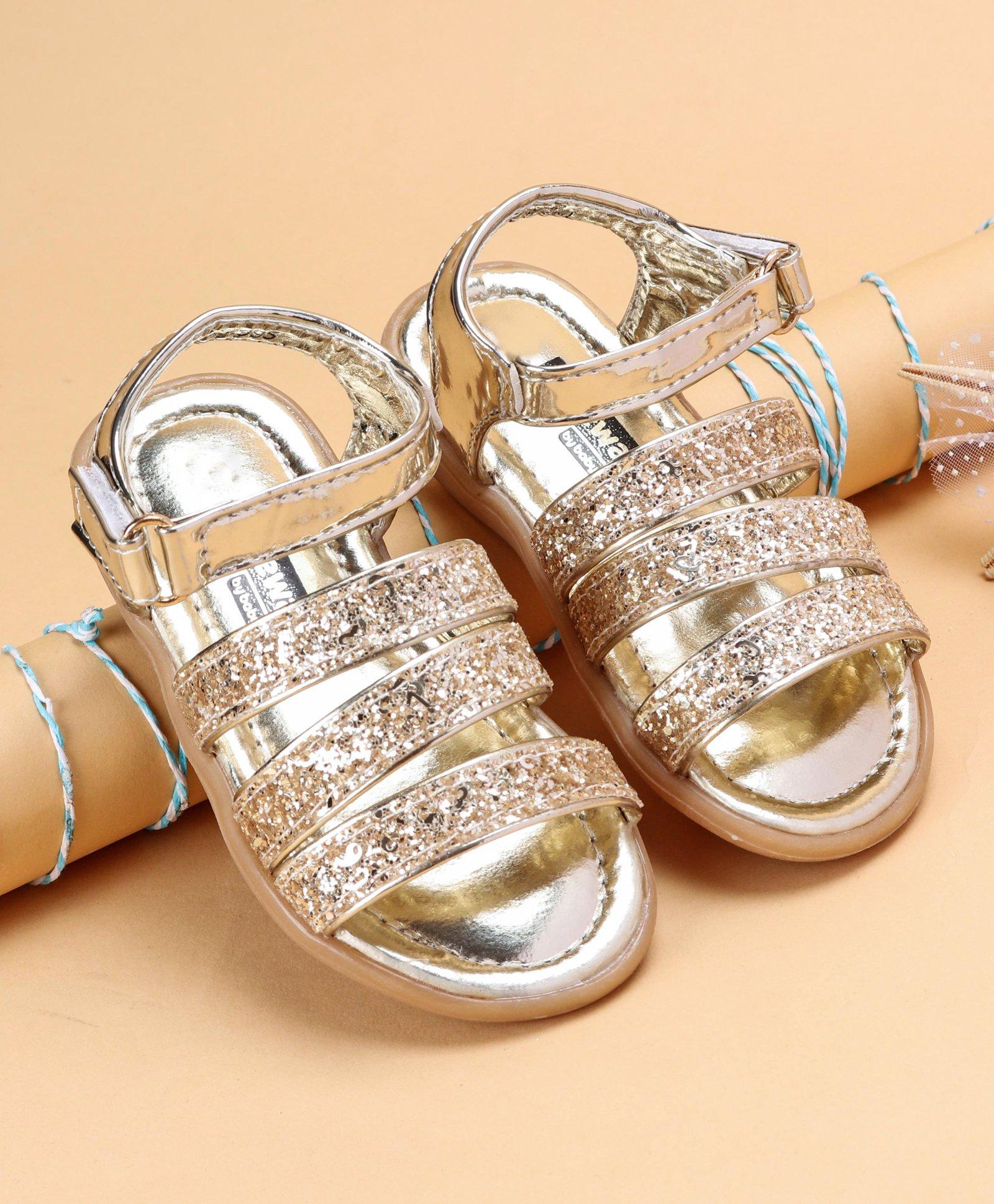 a633d91ec5 Buy Cute Walk by Babyhug Party Wear Glitter Sandals Golden for Girls (12-18  Months) Online, Shop at FirstCry.com - 2481087