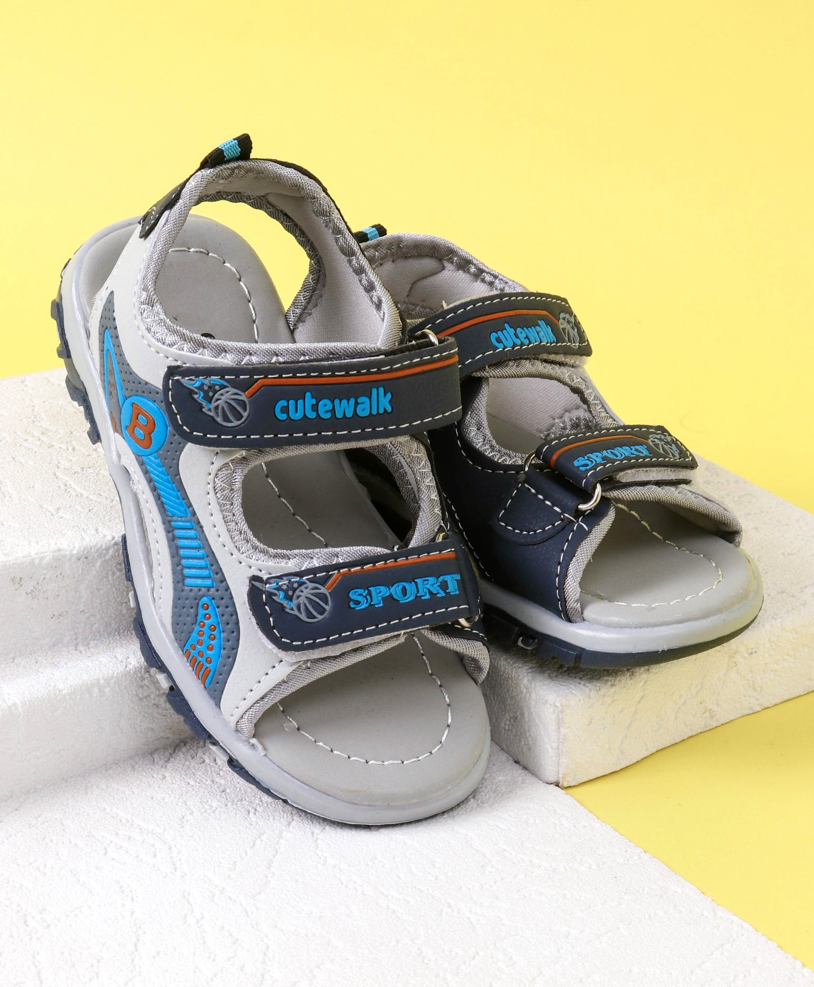 ae20df1cae90fa Buy Cute Walk by Babyhug Sandals Sport Print Grey Sky Blue for ...