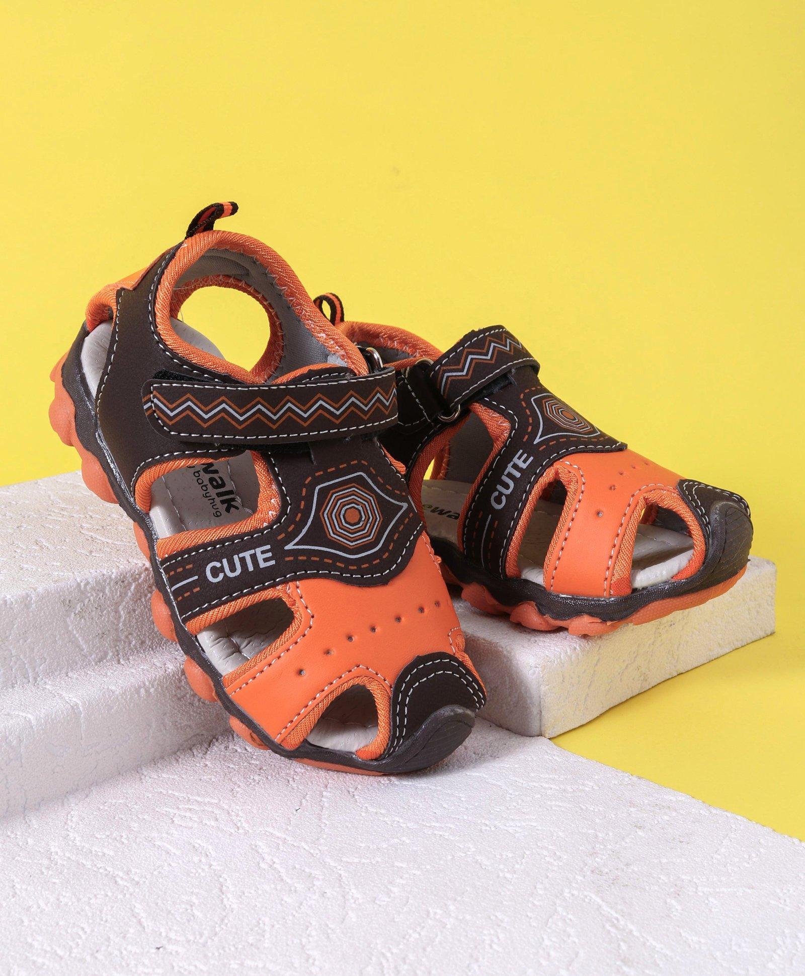 4fd398a7df77 Buy Cute Walk by Babyhug Sandals Orange Brown for Boys (2-2 ...