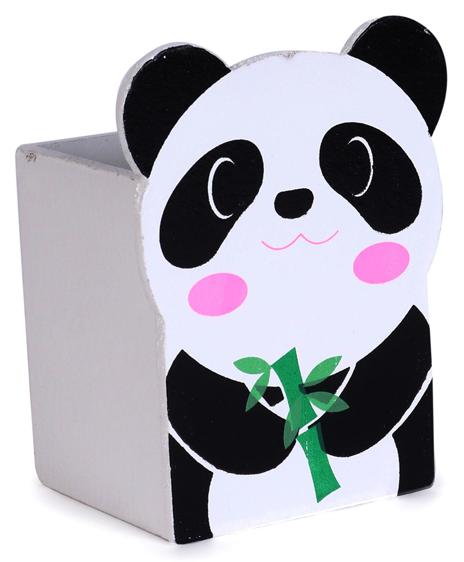 54fe6de2b380 Wooden Pencil Stand Panda Design Black & White Online in India ...