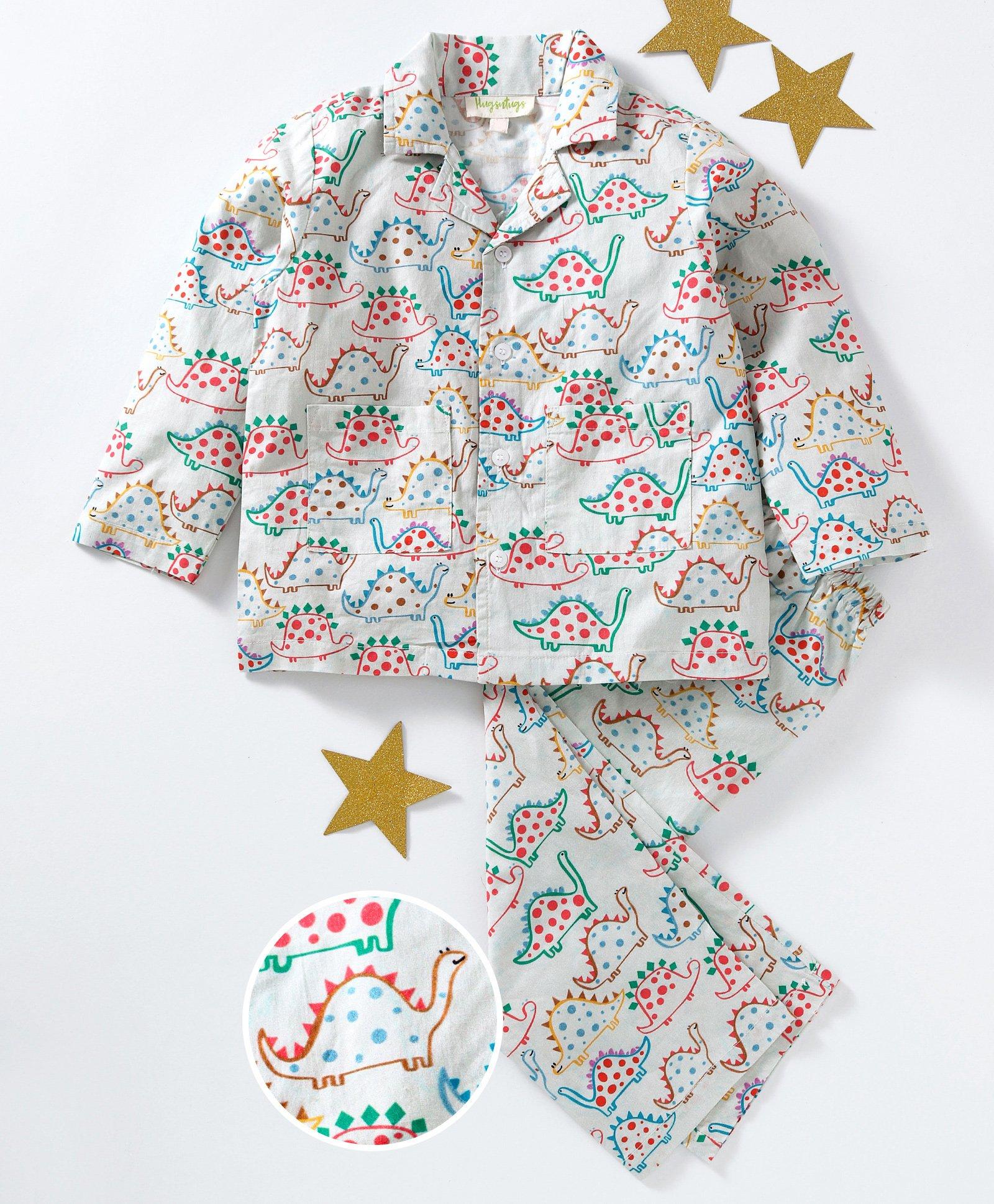 ba0ba95d3 Hugsntugs Dinosaur Print Full Sleeves Shirt & Bottom Night Suit - Multi  Color