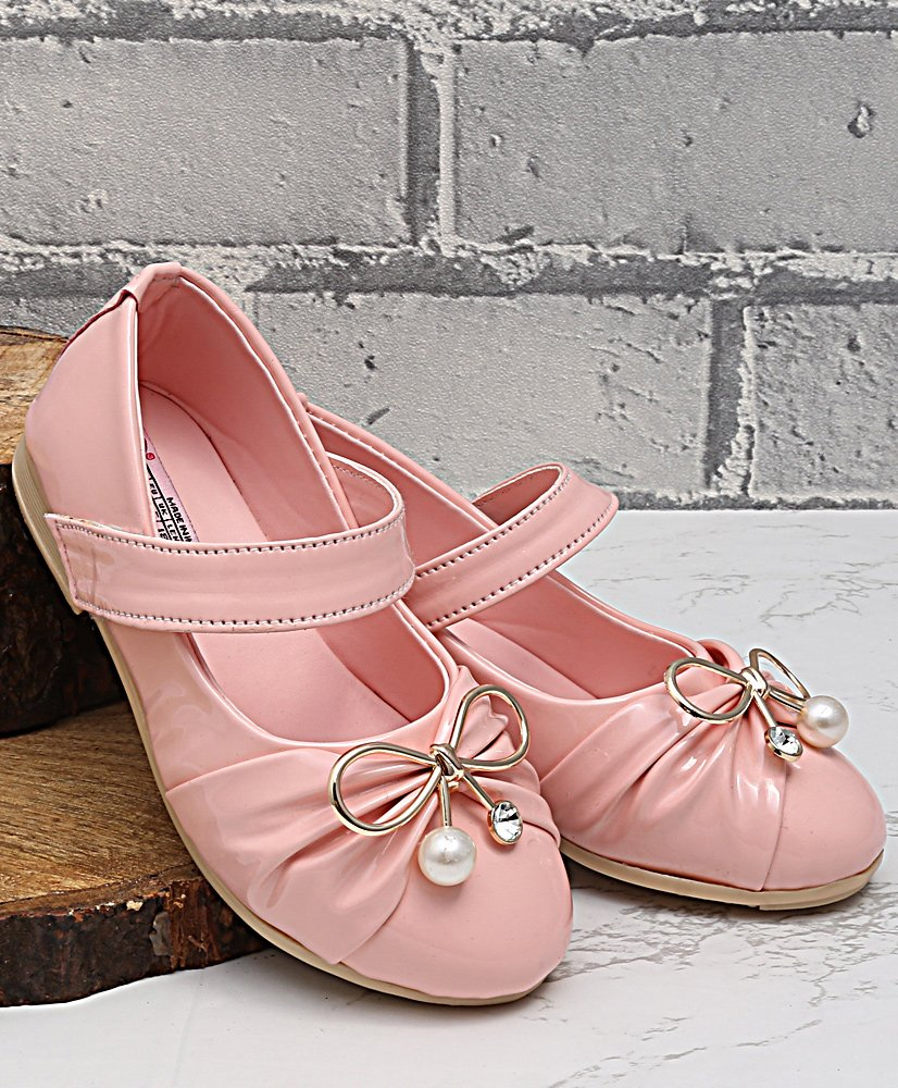 37aae1496 Buy Dchica Bow Applique Mary Janes Pink for Girls (2-2 Years) Online ...