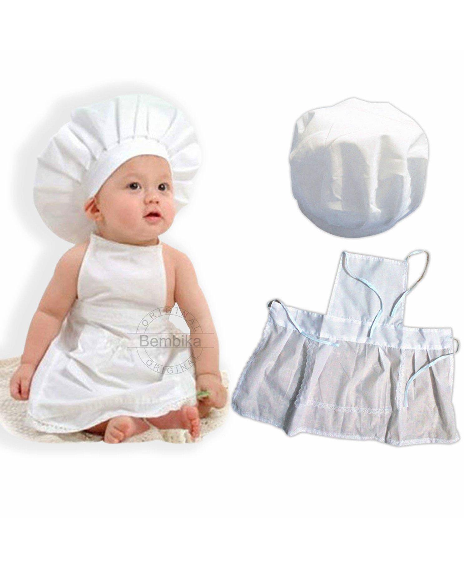 5af991894a4 Bembika Newborn Master chef Costume Photography Prop Set White ...
