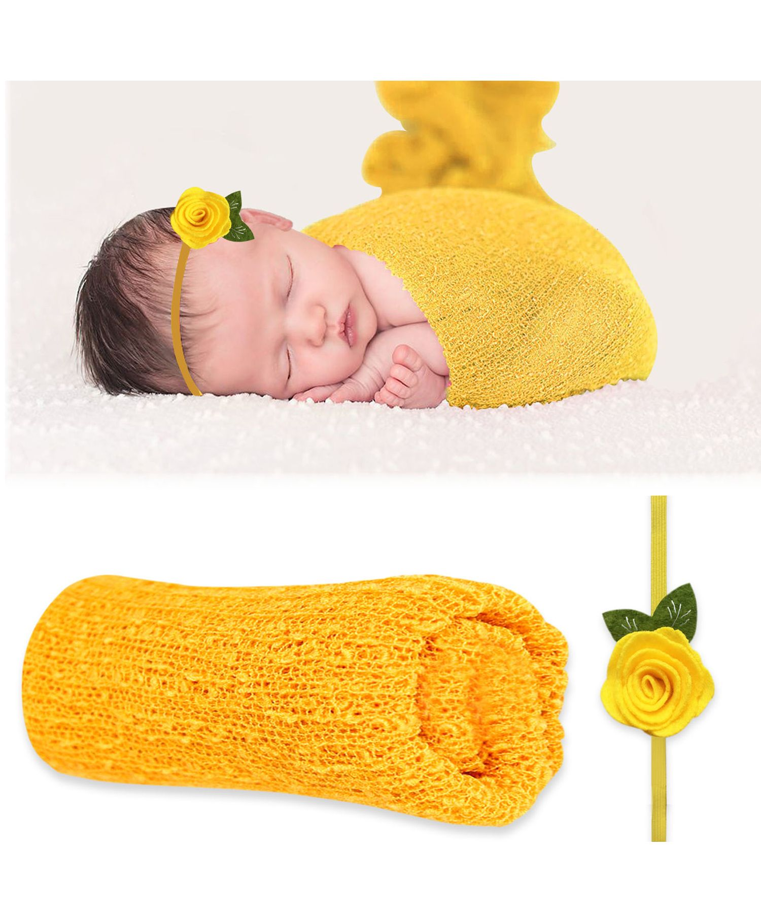 330f5166248 Bembika Newborn Baby Photography Props Set of 2 yellow for Both (0 ...