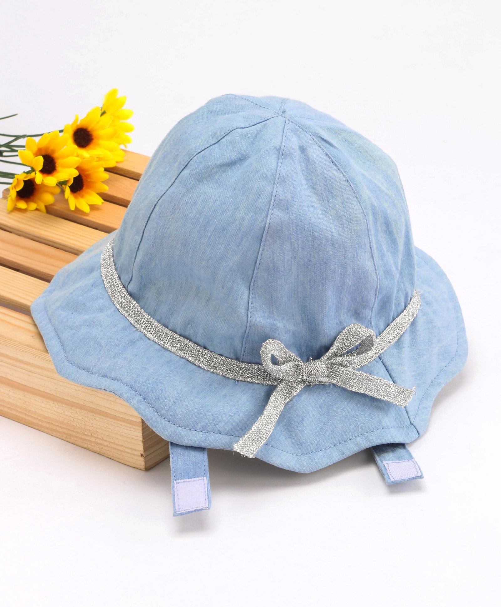 8ff71b49cee Fox Baby Bucket Cap With Bow Applique Light Blue Online in India ...