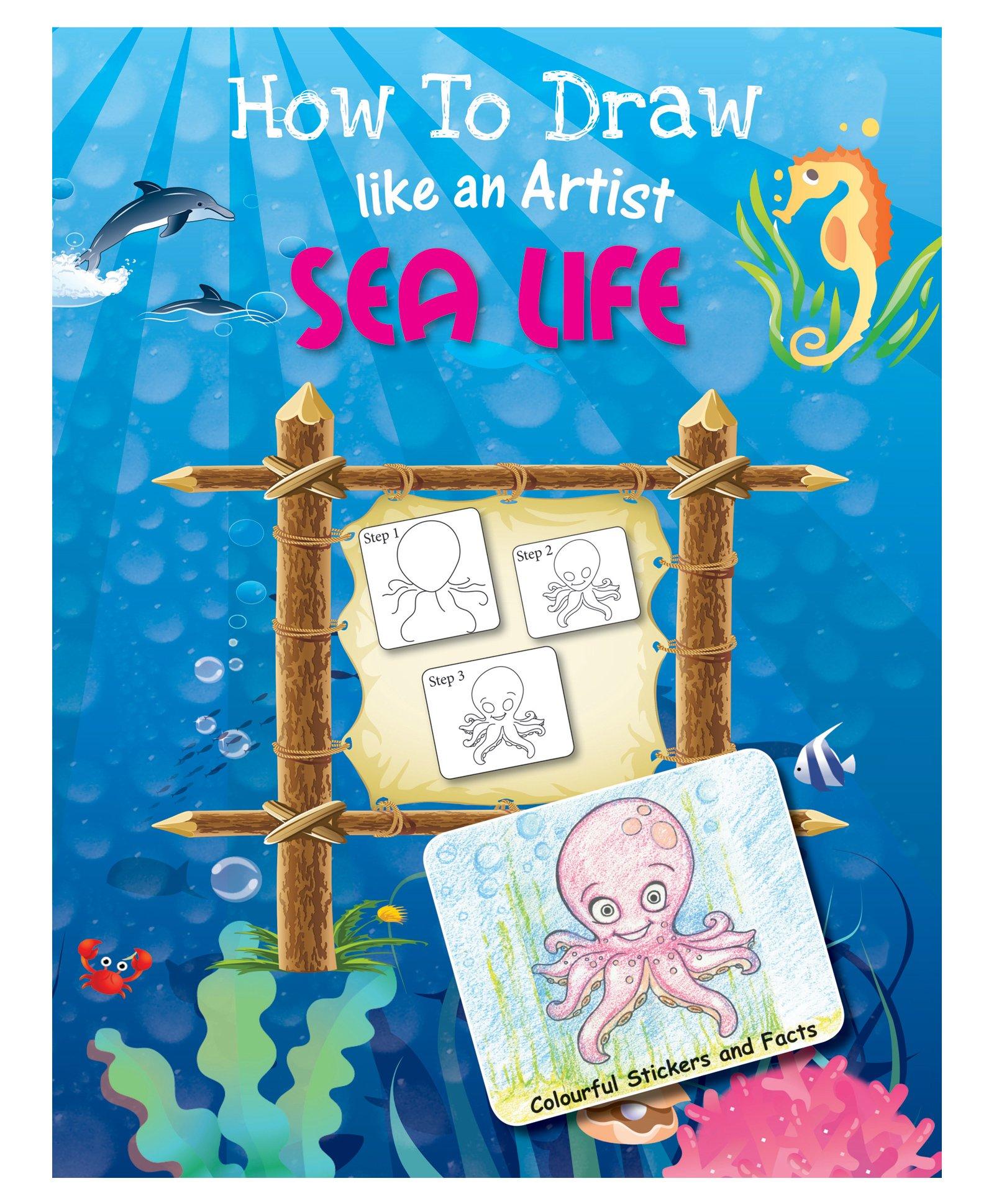 Future books sea life drawing book english
