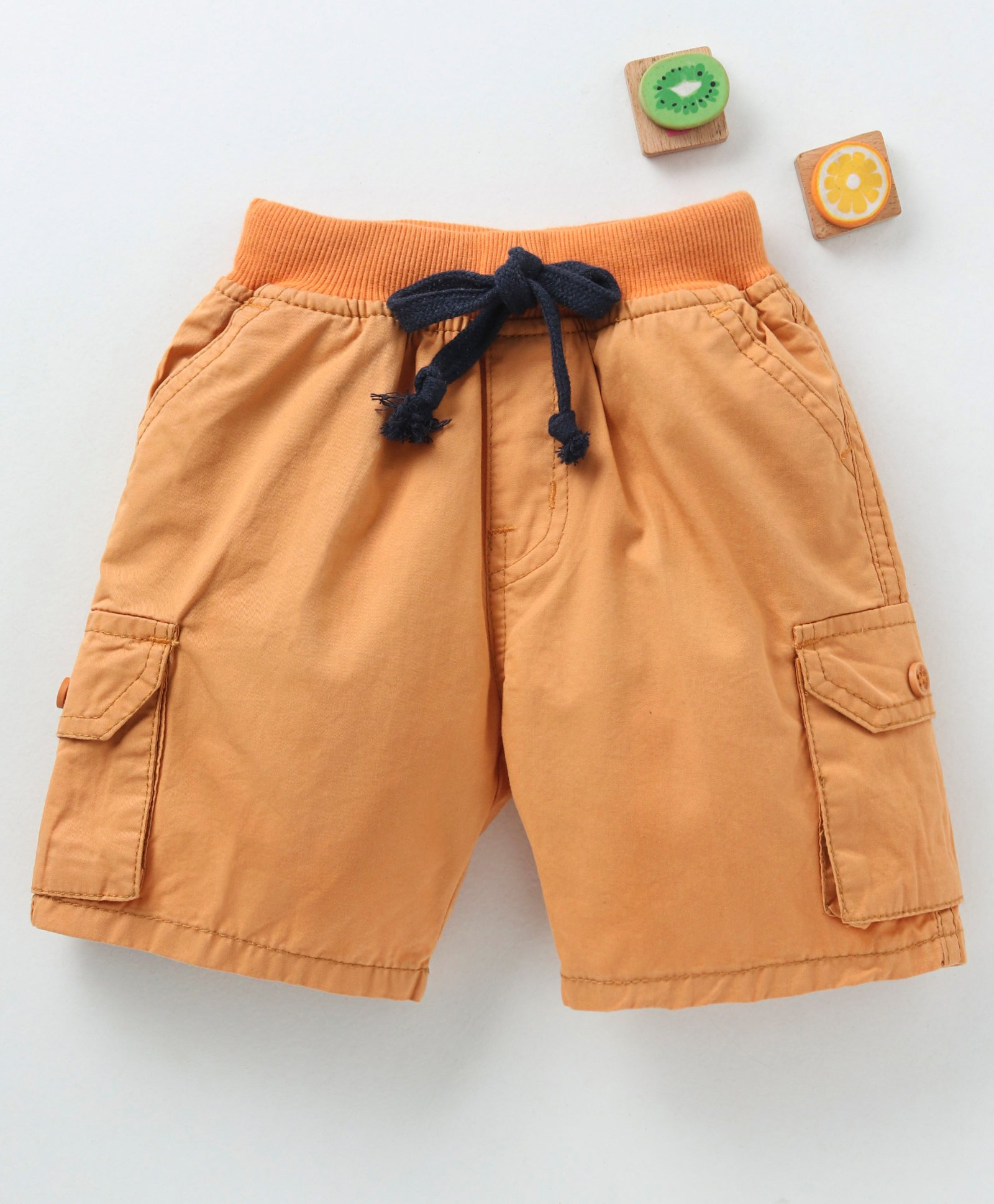 a66bd6d58 Buy Olio Kids Solid Shorts Rust Brown for Boys (9-12 Months) Online ...