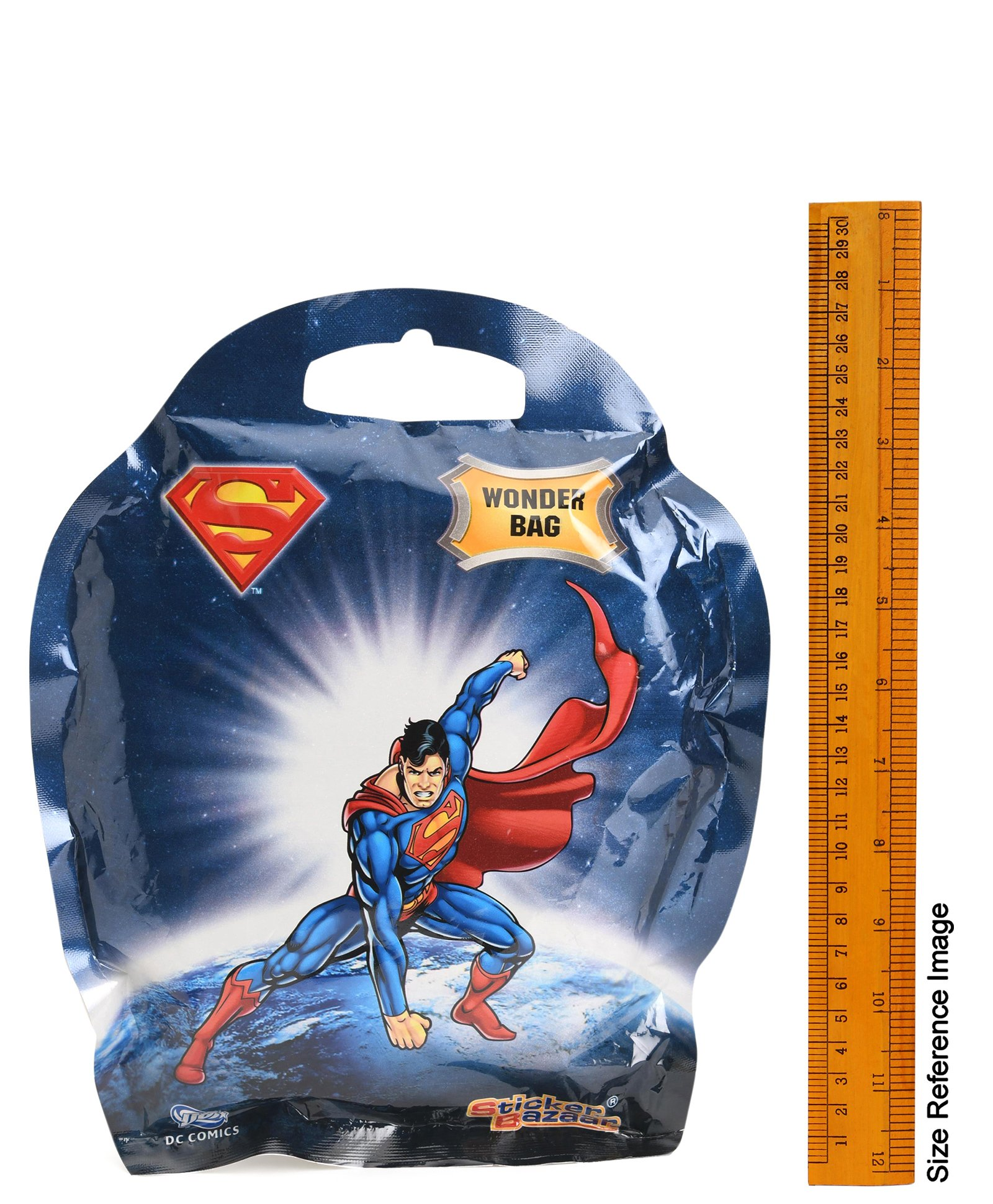 Superman Uniform Wide Mouth Plastic Water Bottle DC Comics Logo Lunch Wide Mouth